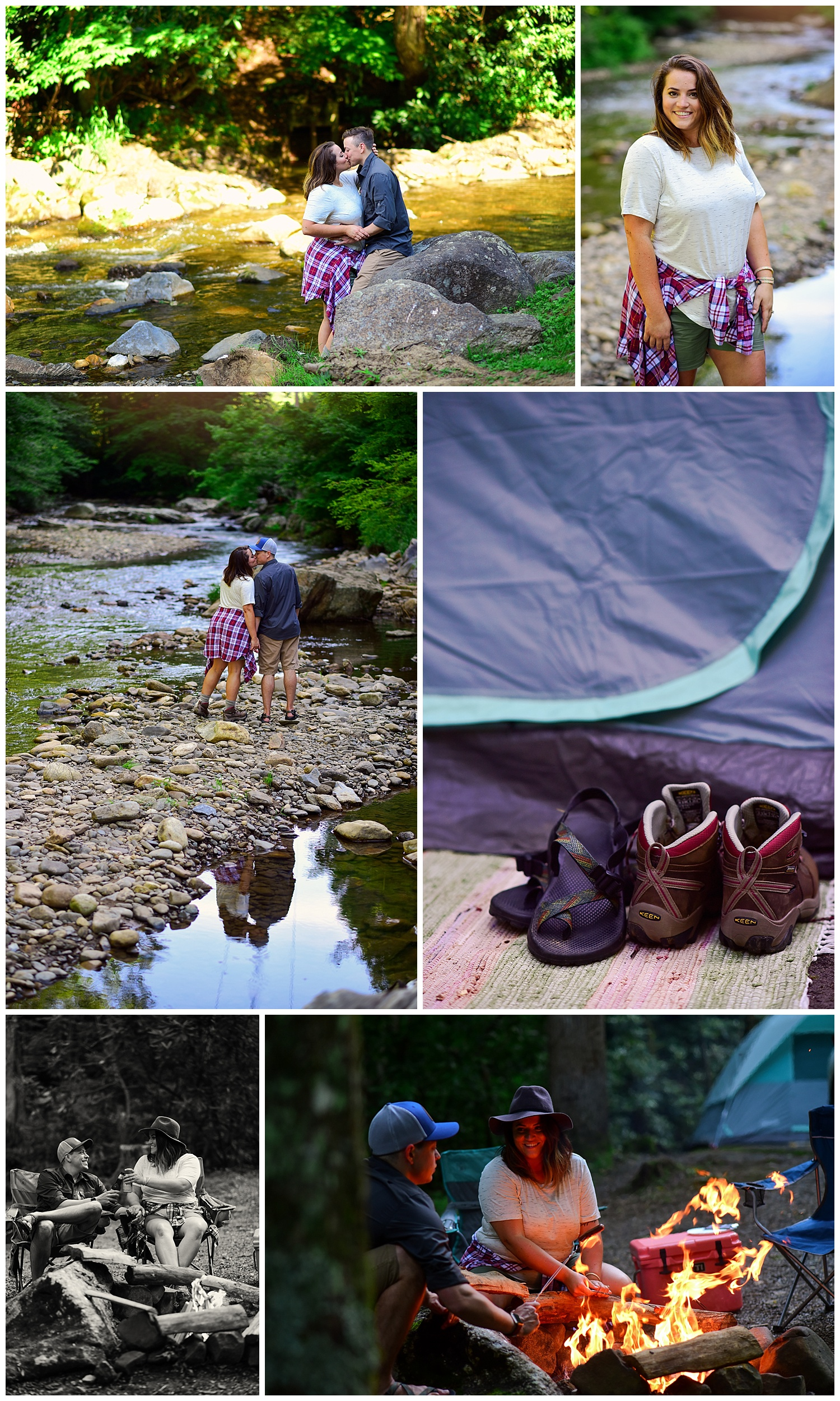 Camping photo shoot