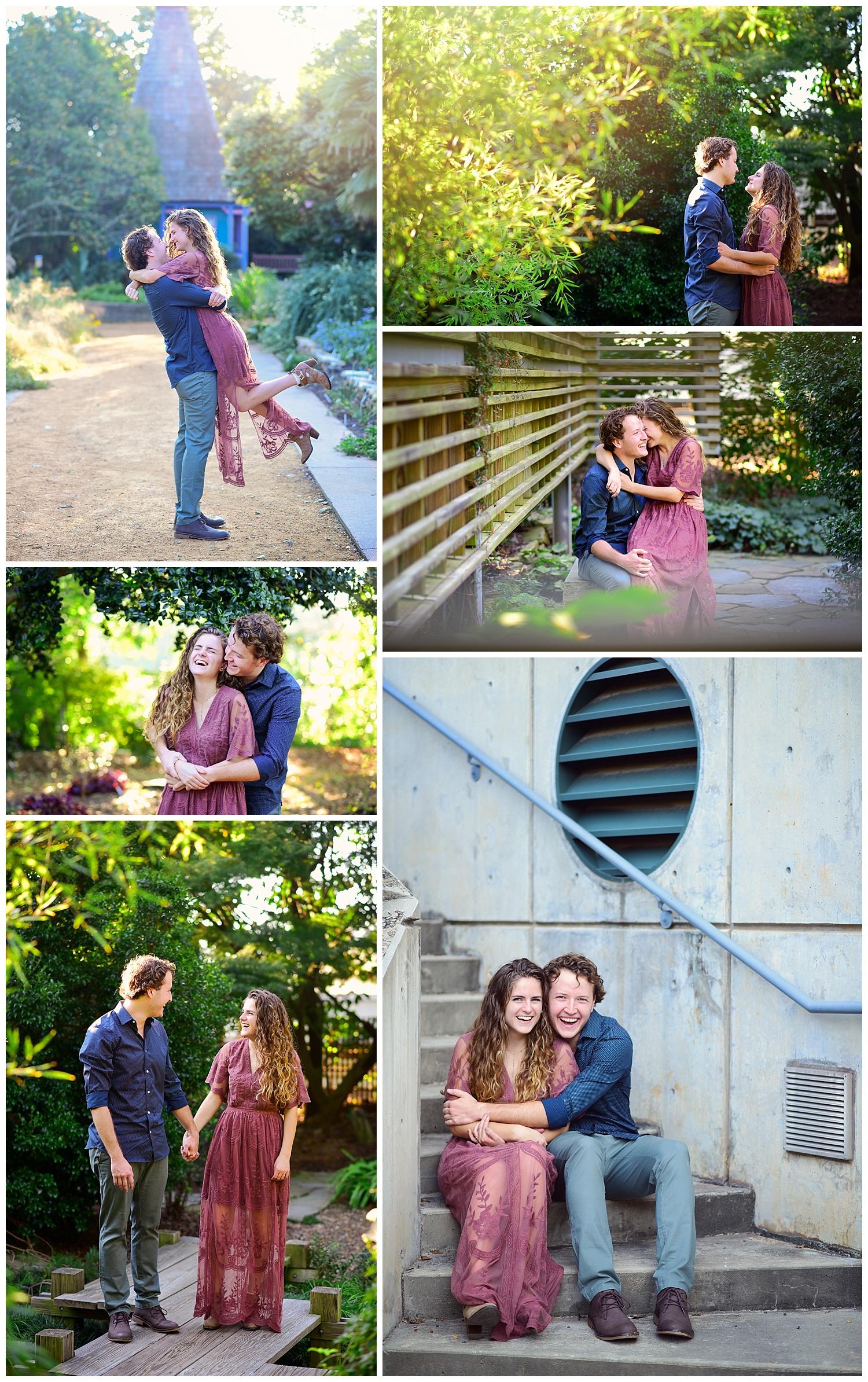 Engagement Photos at NC State Arboretum