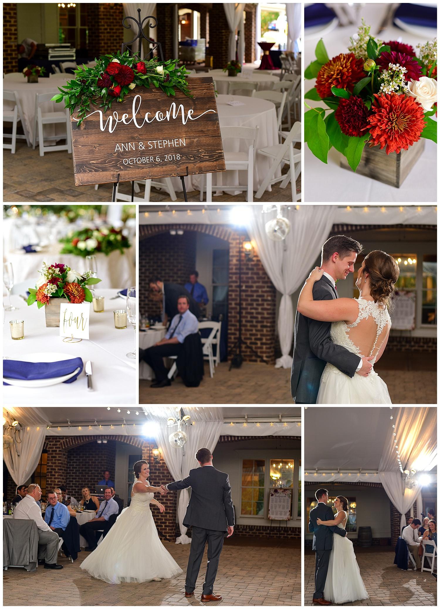 Oaks at Salem Fall Wedding Reception