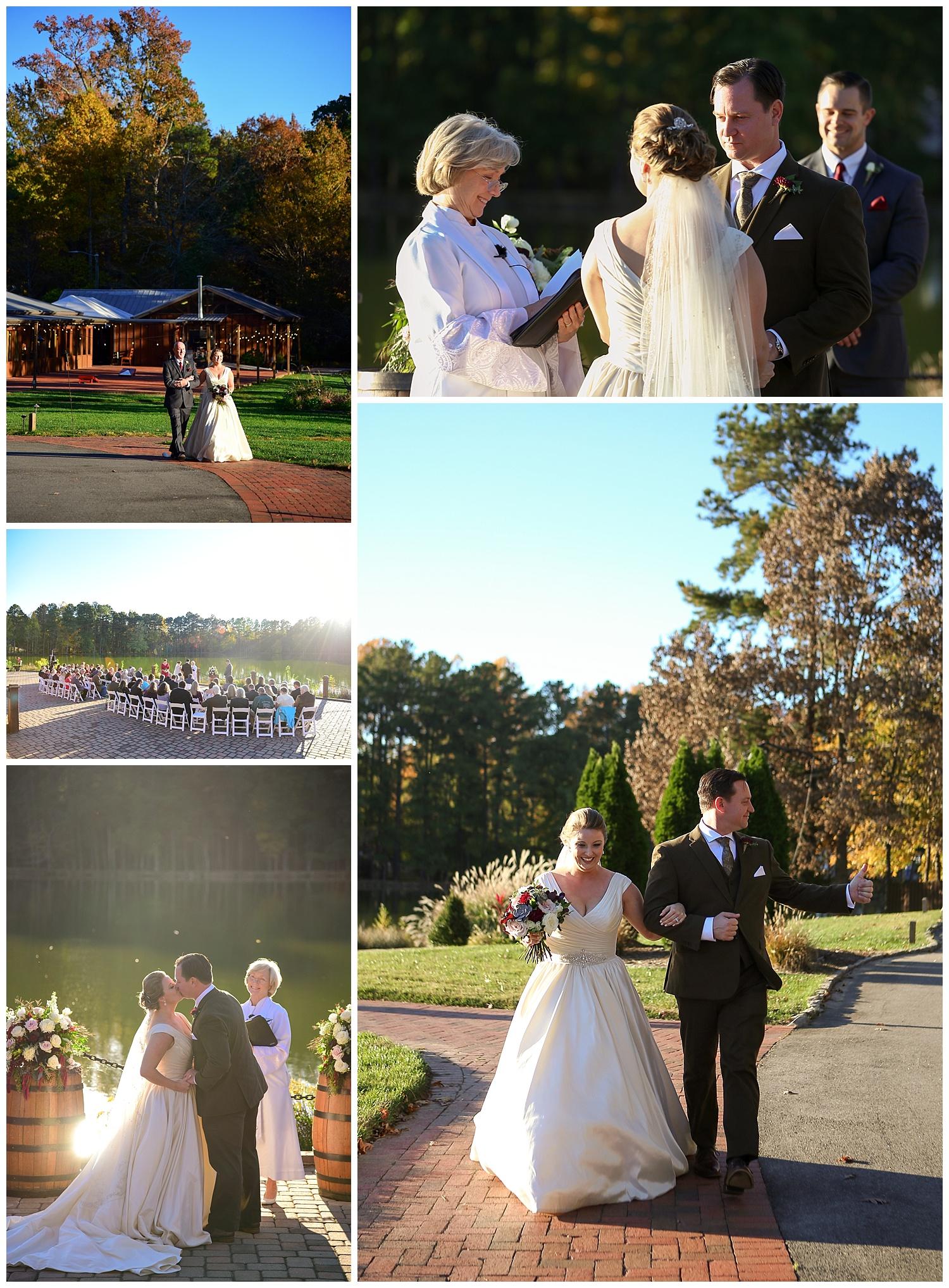 Pavilions at Angus Barn Wedding Ceremony