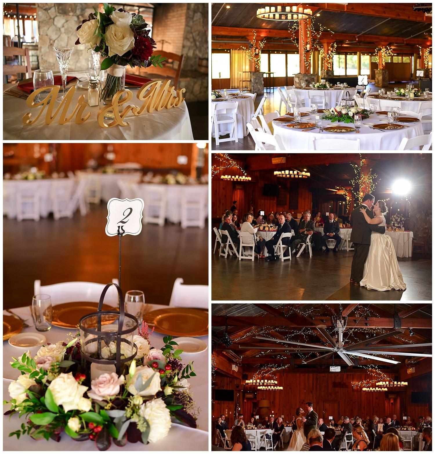 Pavilions at Angus Barn Wedding Reception
