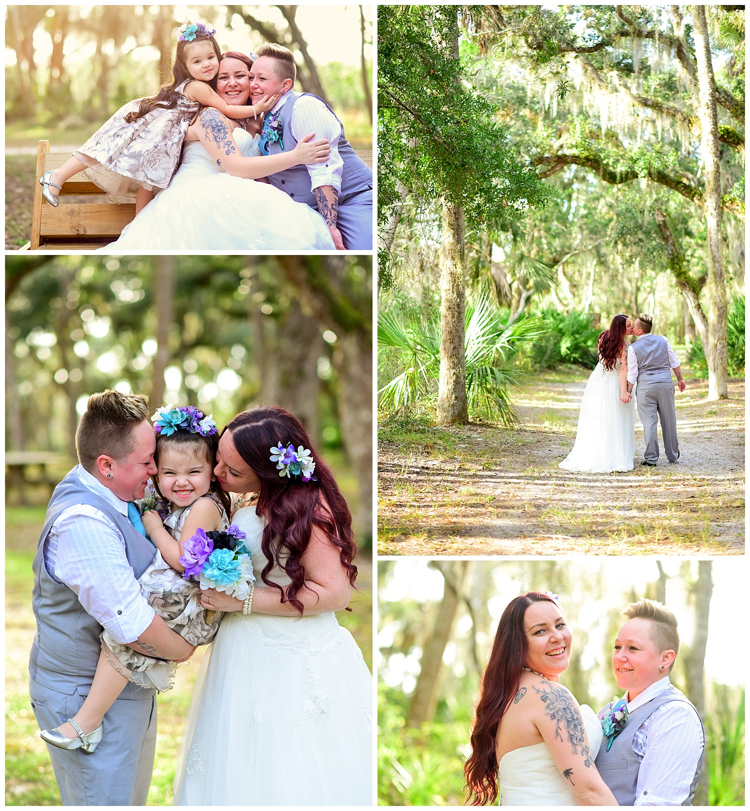 LGBTQ wedding at washington oaks garden