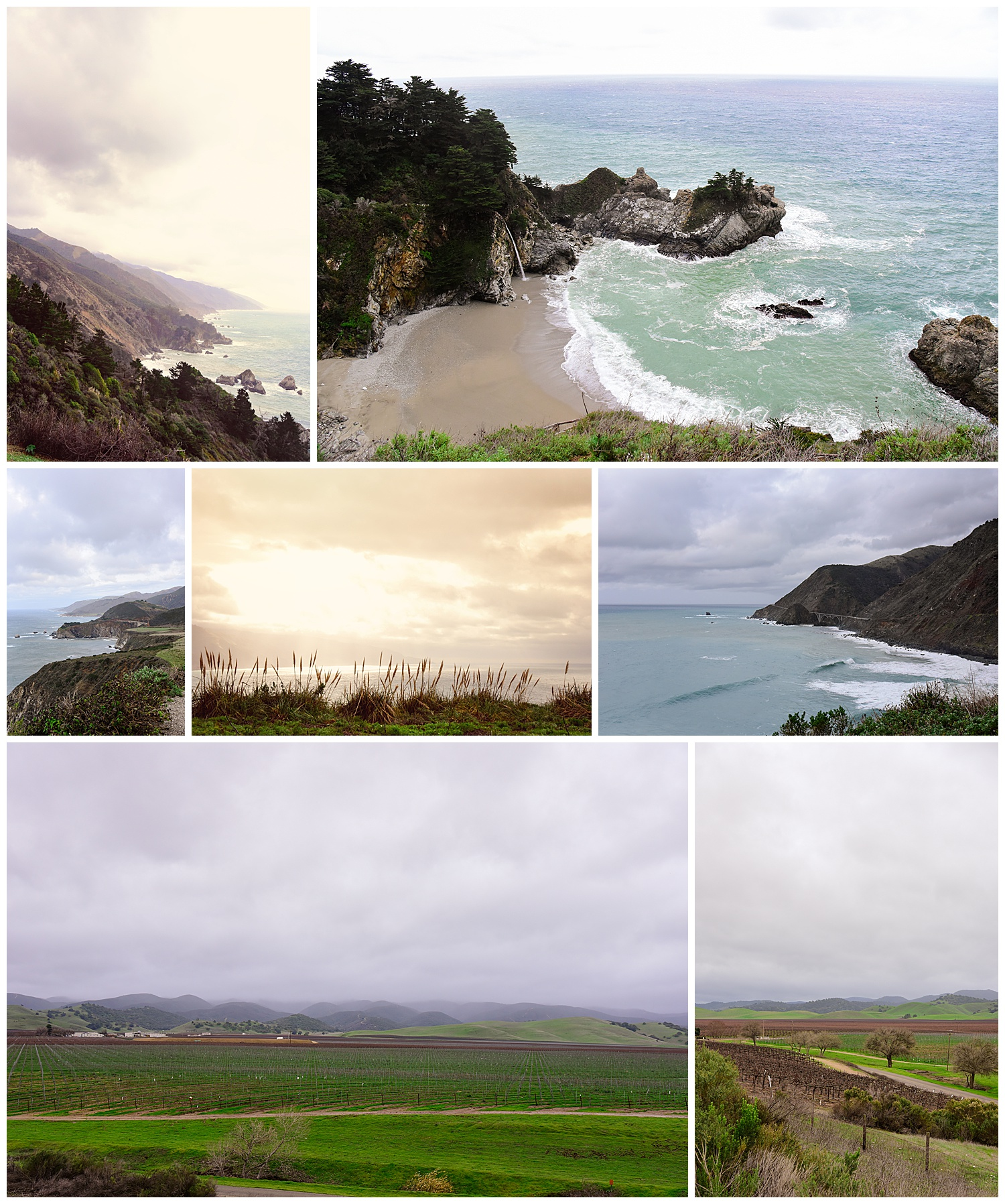 Big Sur California and Monterey California