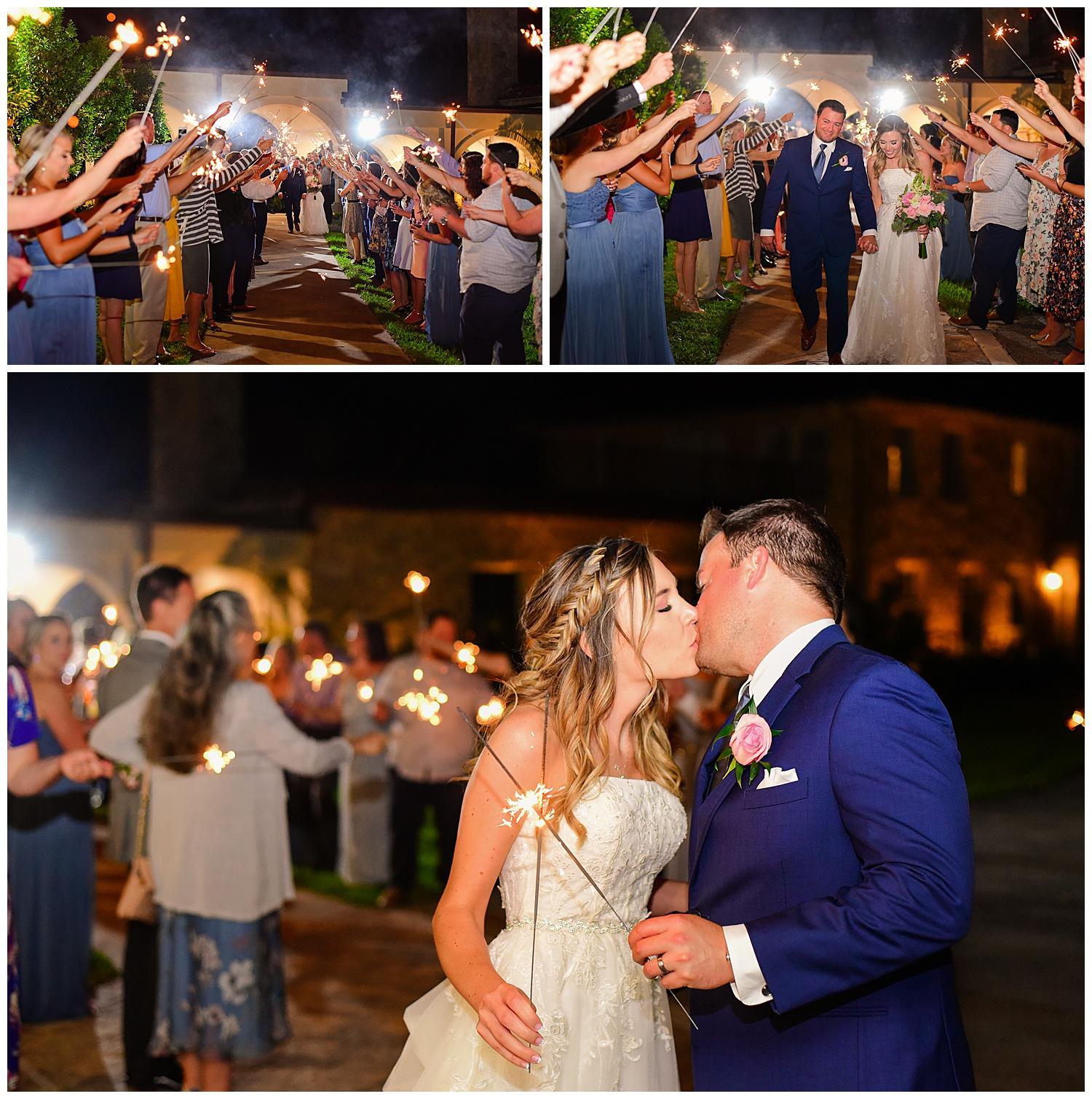 Marywood Retreat Center Wedding Sparkler Exit