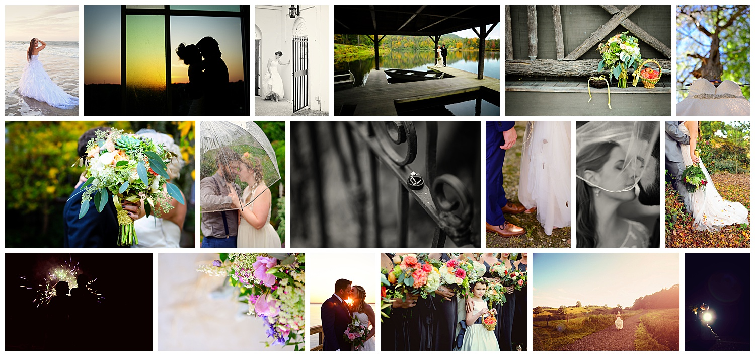 Creative and artistic wedding photography