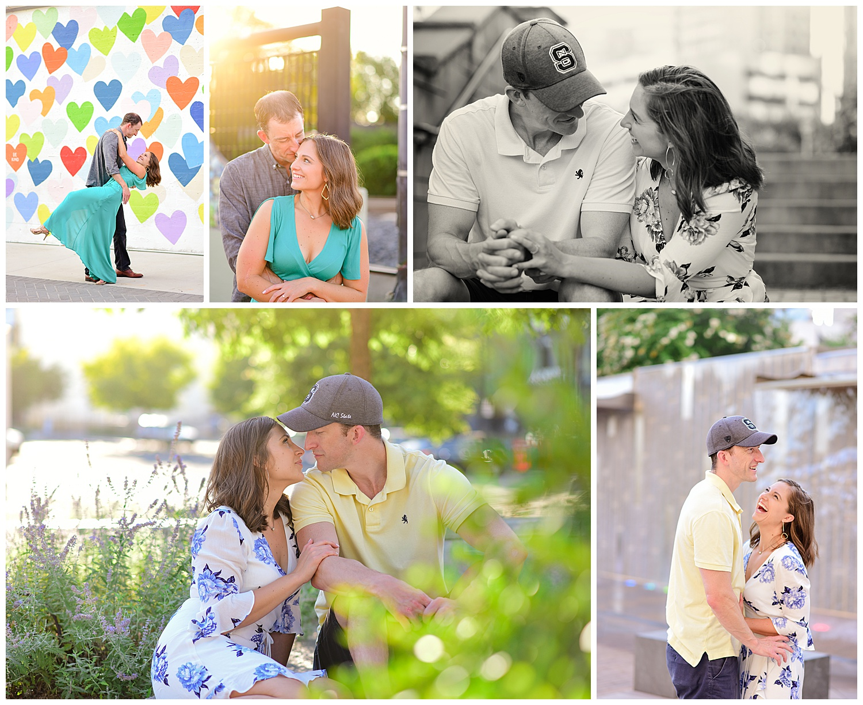Uptown Charlotte Engagement Photos