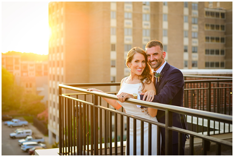 Vidrio Raleigh rooftop wedding