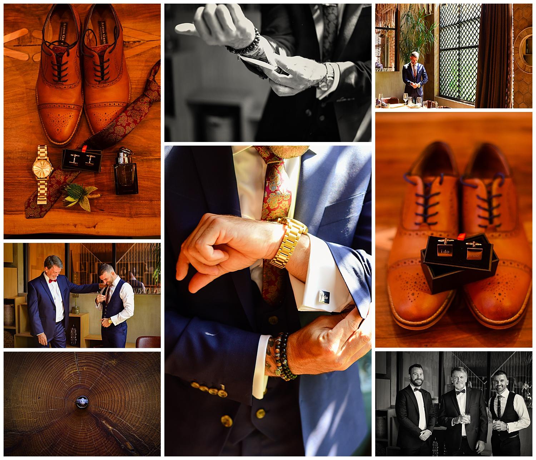 Vidrio Raleigh Wedding Groom Suite