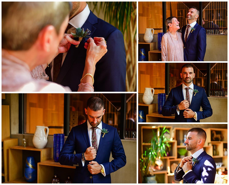 Vidrio Raleigh Wedding Groom's Suite