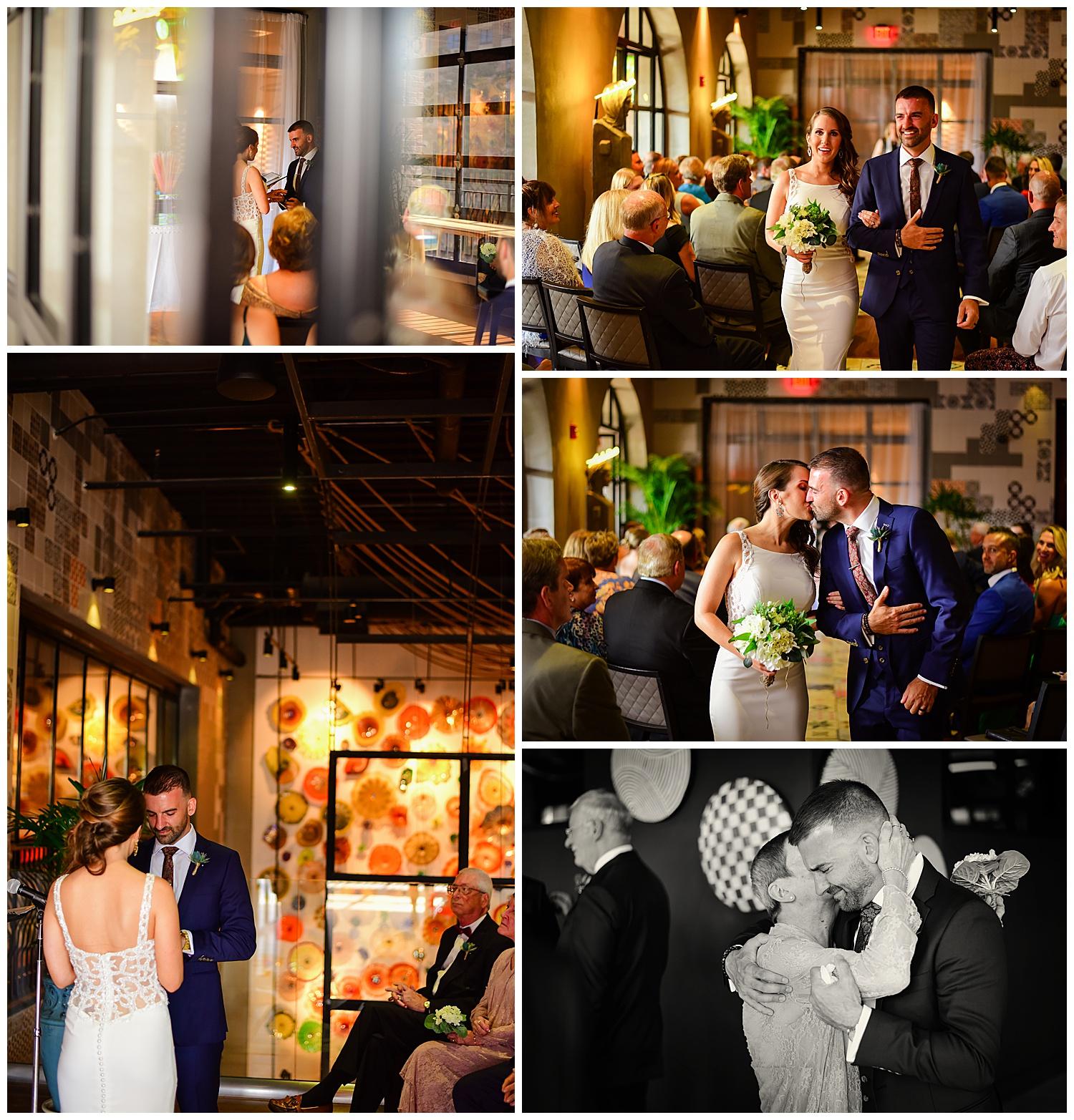Vidrio Raleigh Wedding Ceremony