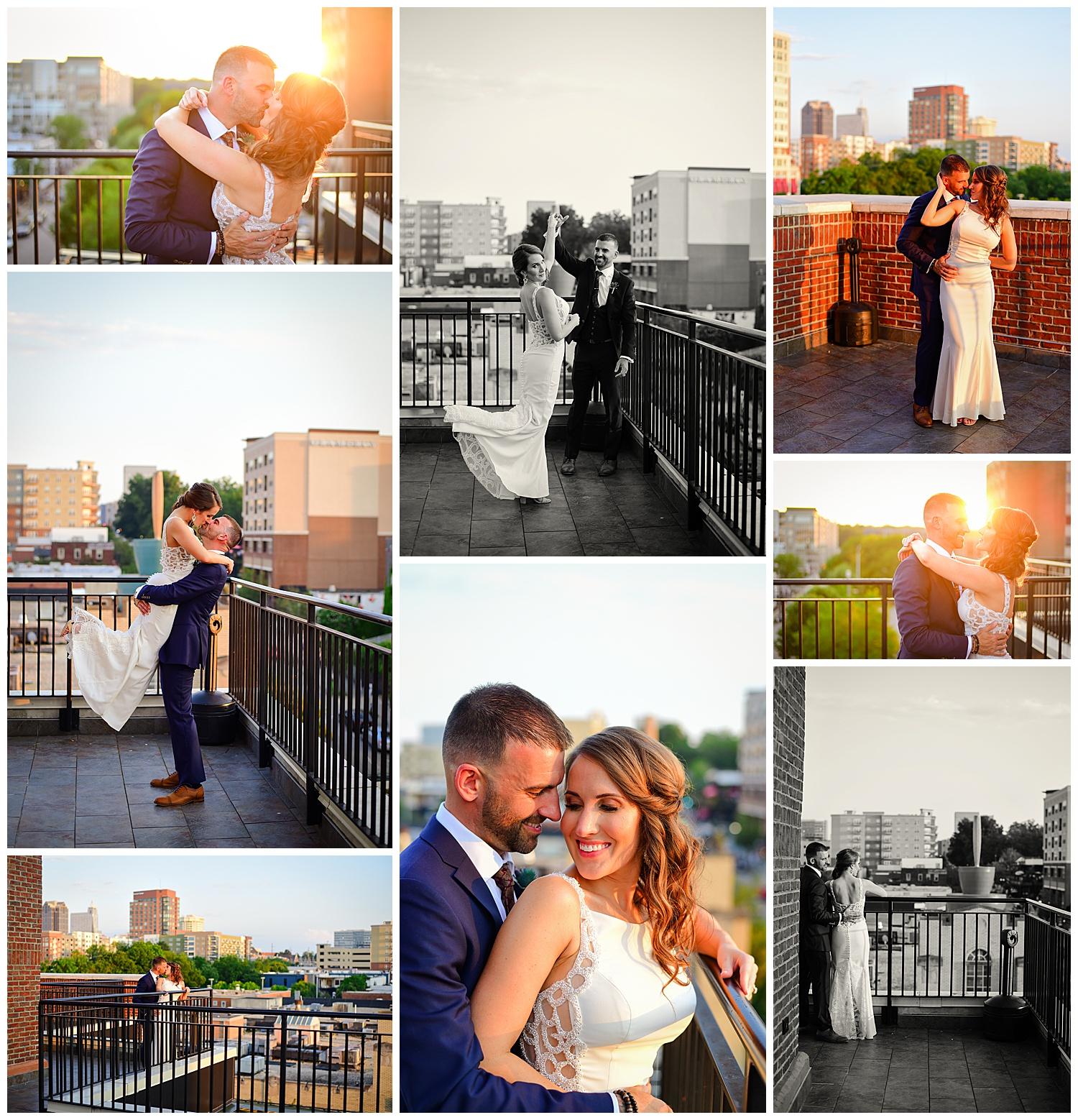 Vidrio Raleigh Wedding Sunset Portraits