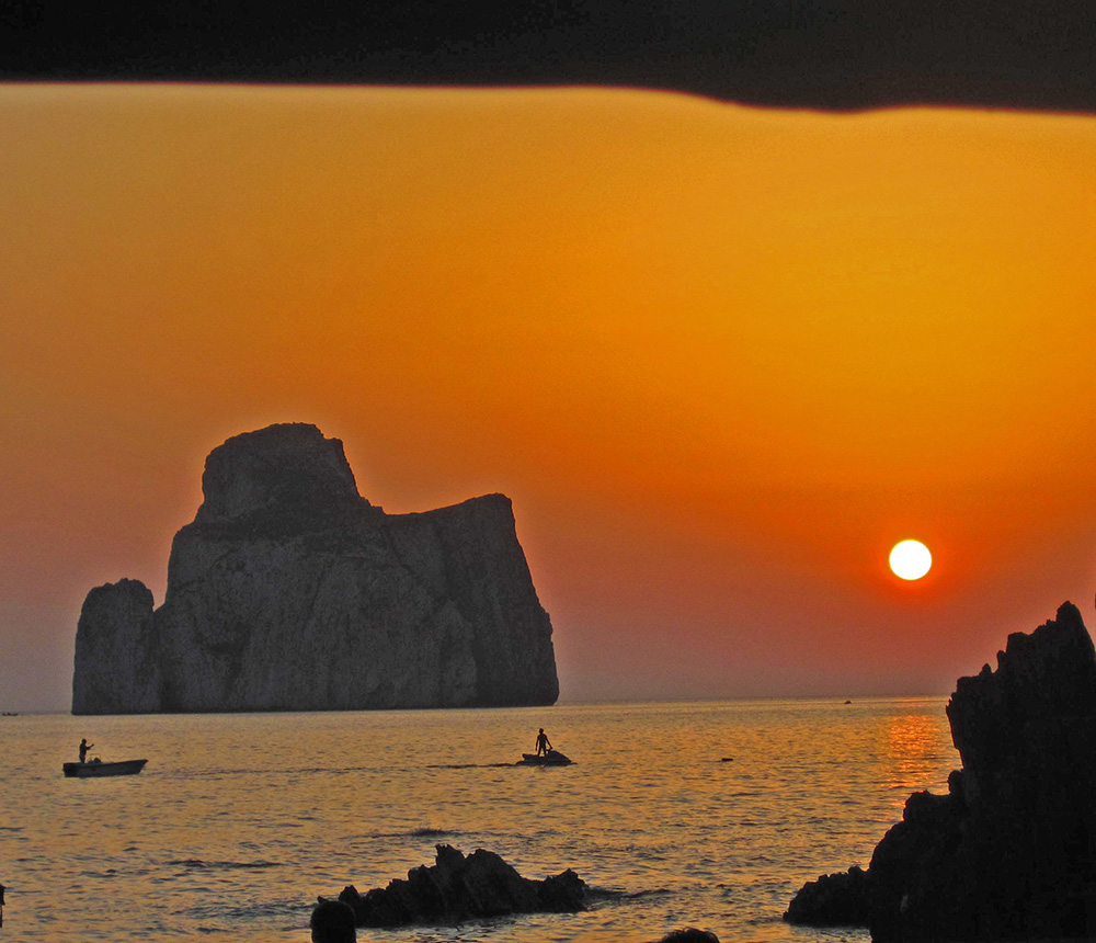 Sunset at Masua