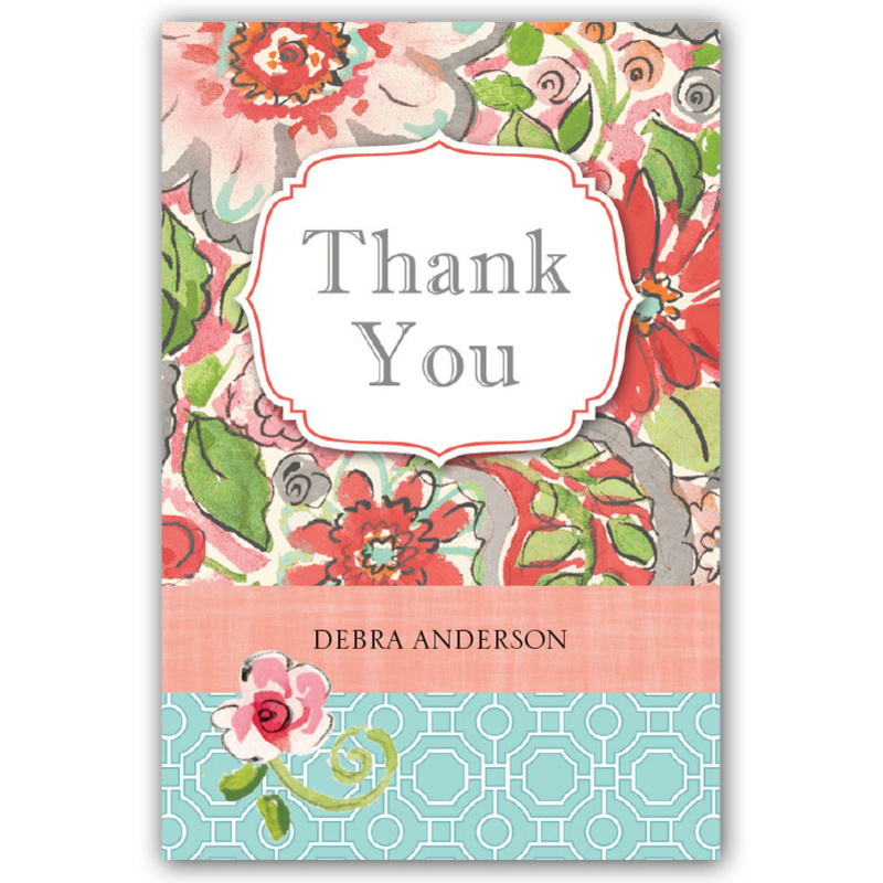 "2. Floral Burst Instant Gratitude Cards - At only 3"" x 2"", these tiny cards are perfect for a quick, but heartfelt 'Thank You'."