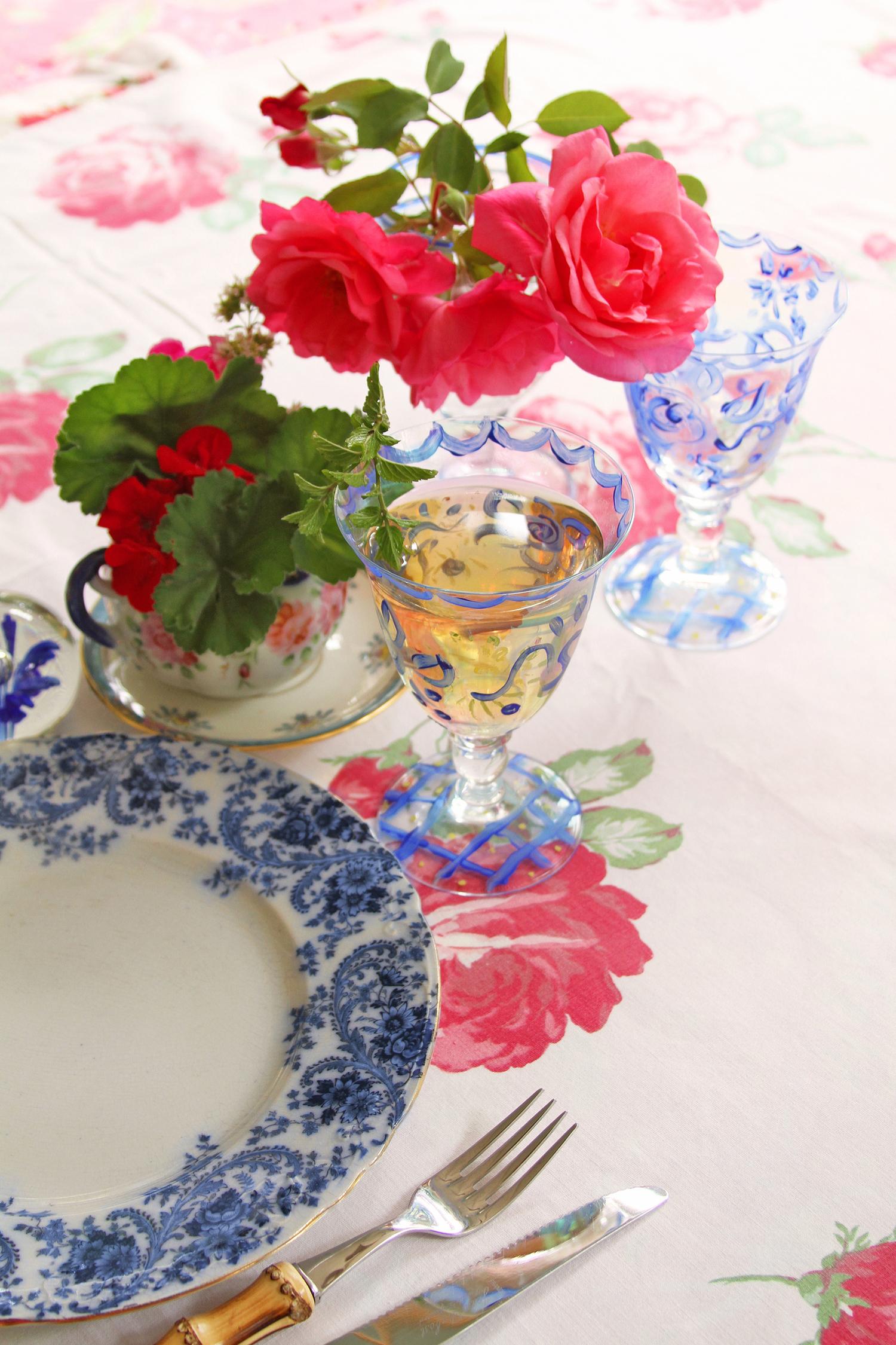 Hand-Painted Stemware Photo from Dena Designs
