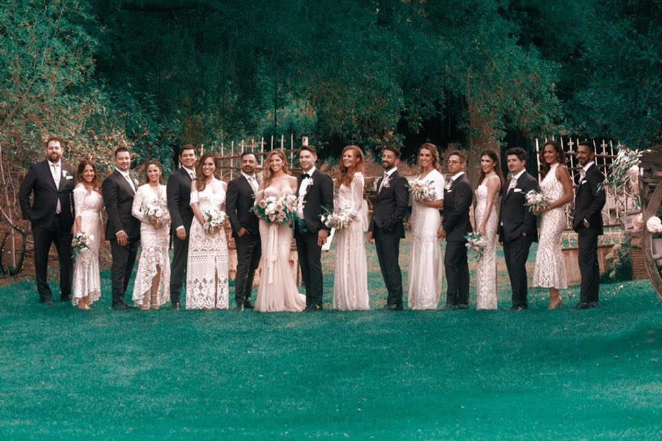The groomsmen and bridesmaids! My daughter's Lisa and Rachel were both bridesmaids.