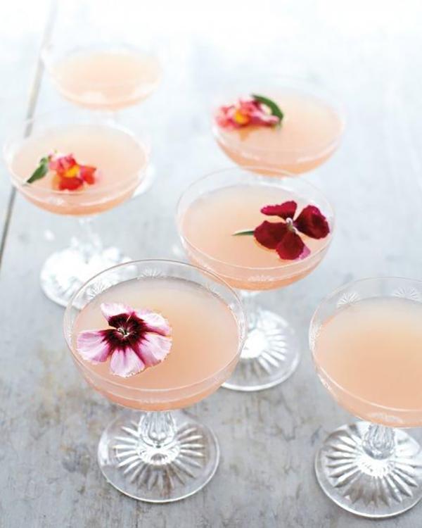 Lillet Rose Spring Cocktail   photo: Martha Stewart