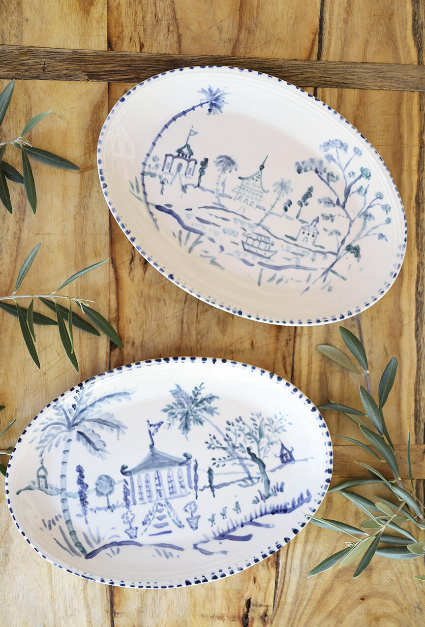 Pop Up Sneak Peek Hand Painted Ceramic Plates Dena Designs