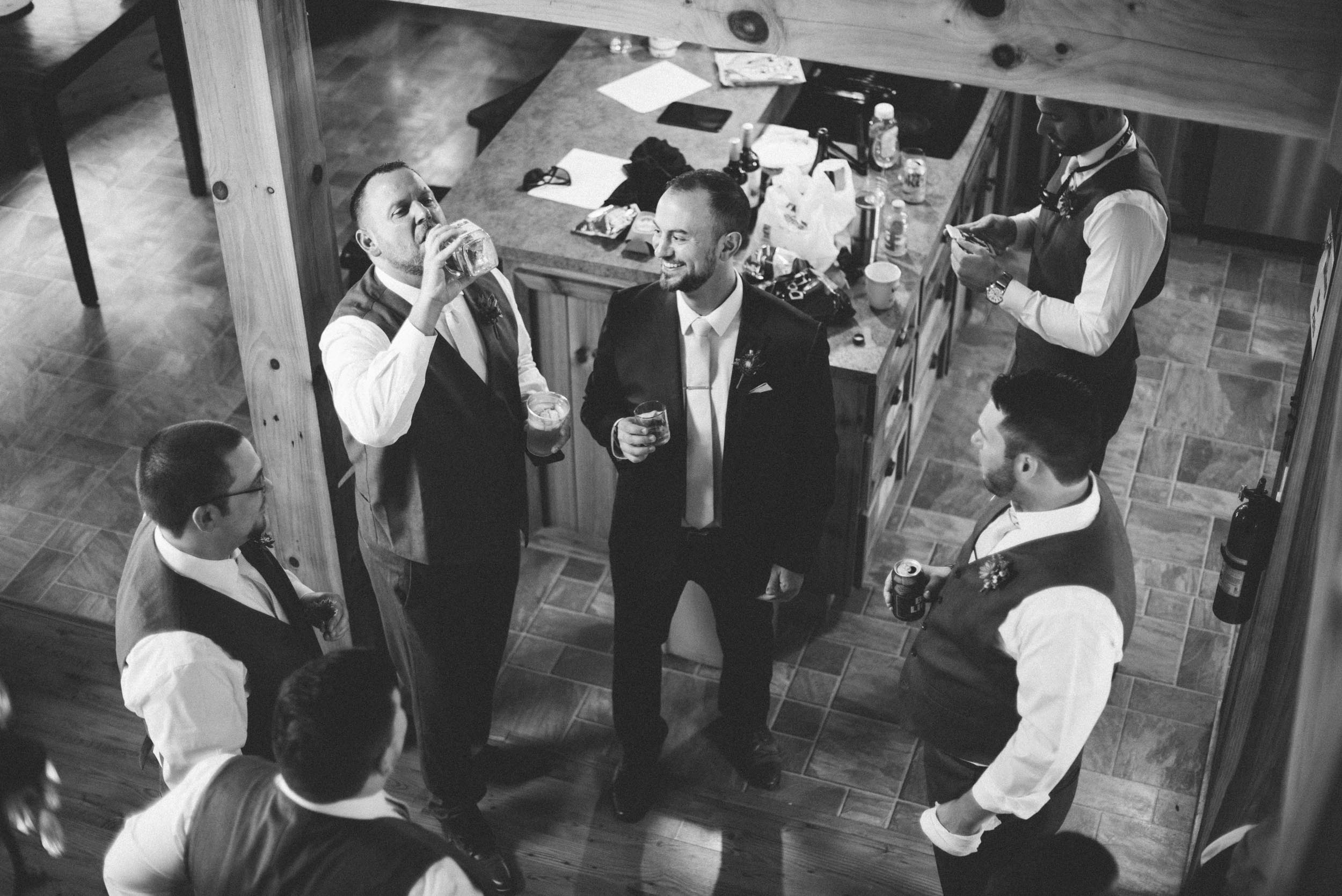 Wedding preparation at Shenandoah Woods