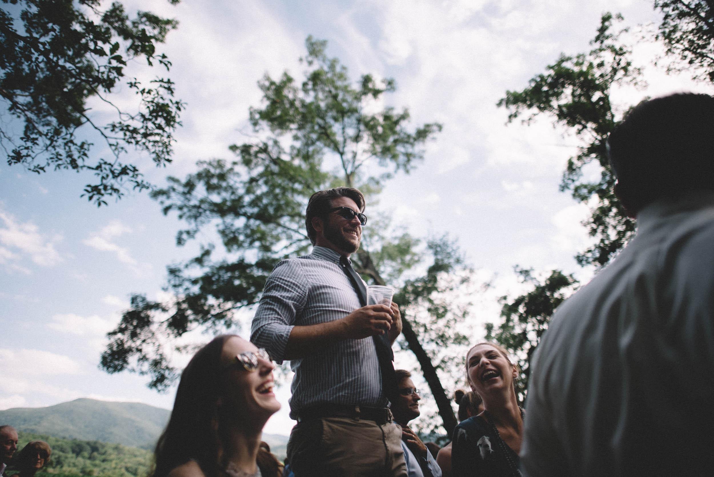 Wedding ceremony in Stanley, Virginia