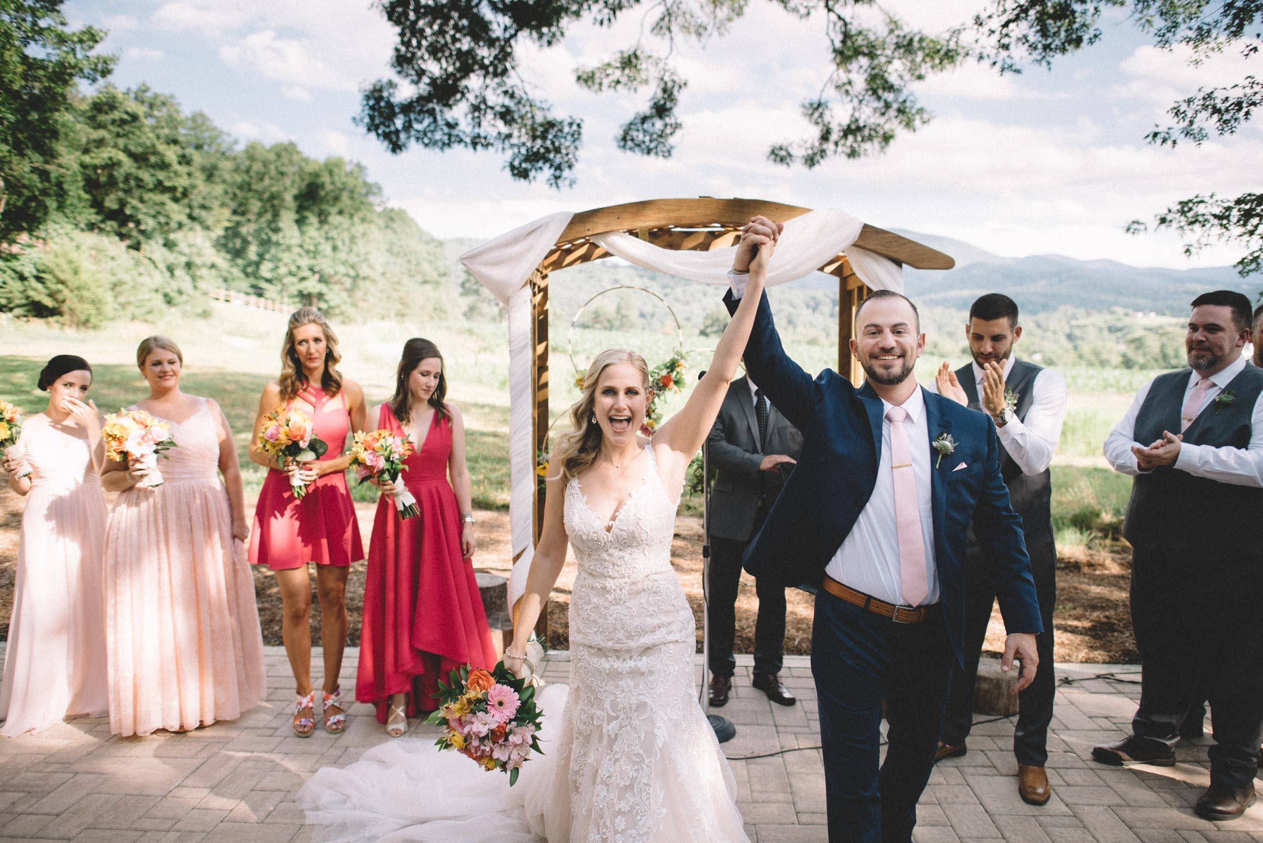 Shenandoah Woods wedding ceremony