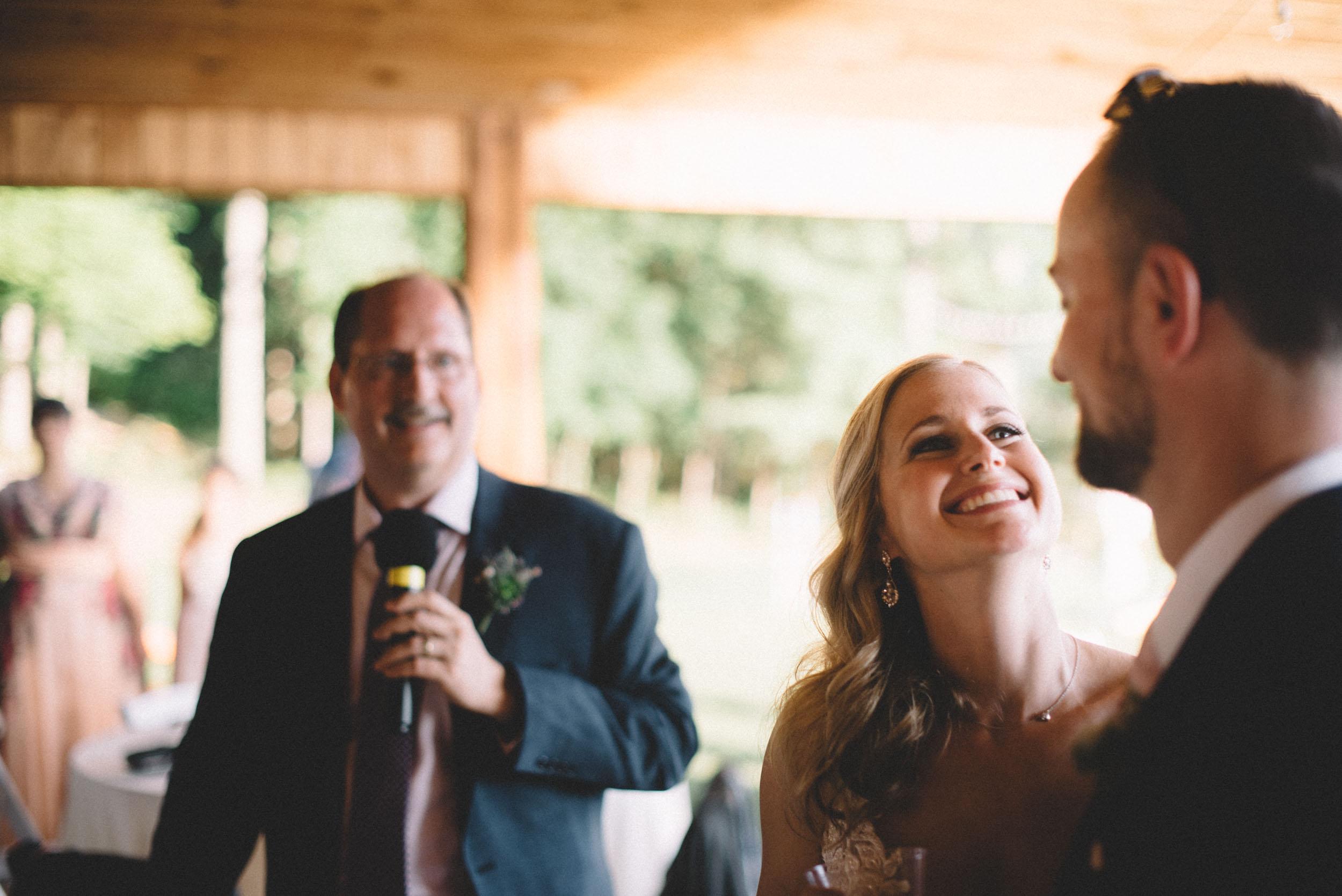Wedding reception in Shenandoah Woods