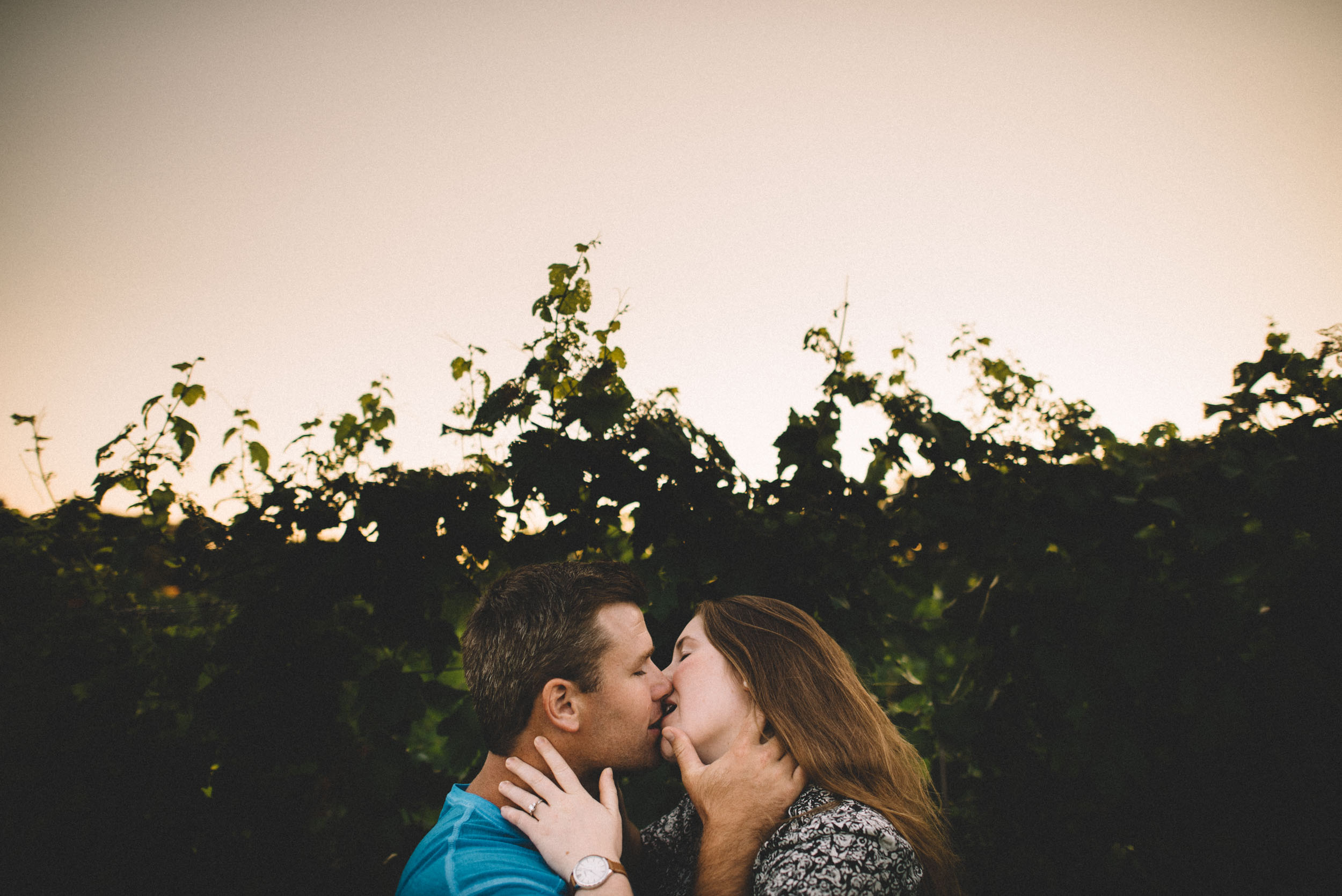 Engagement session at Bluestone Vineyard