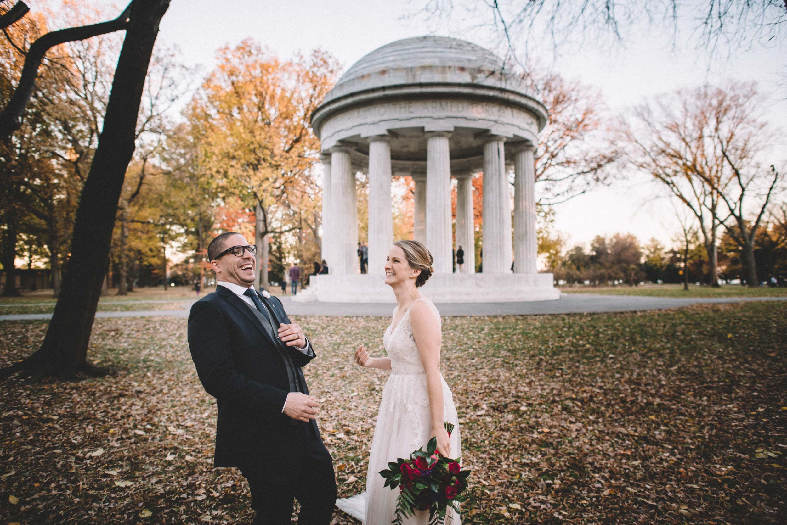 DC War Memorial Wedding