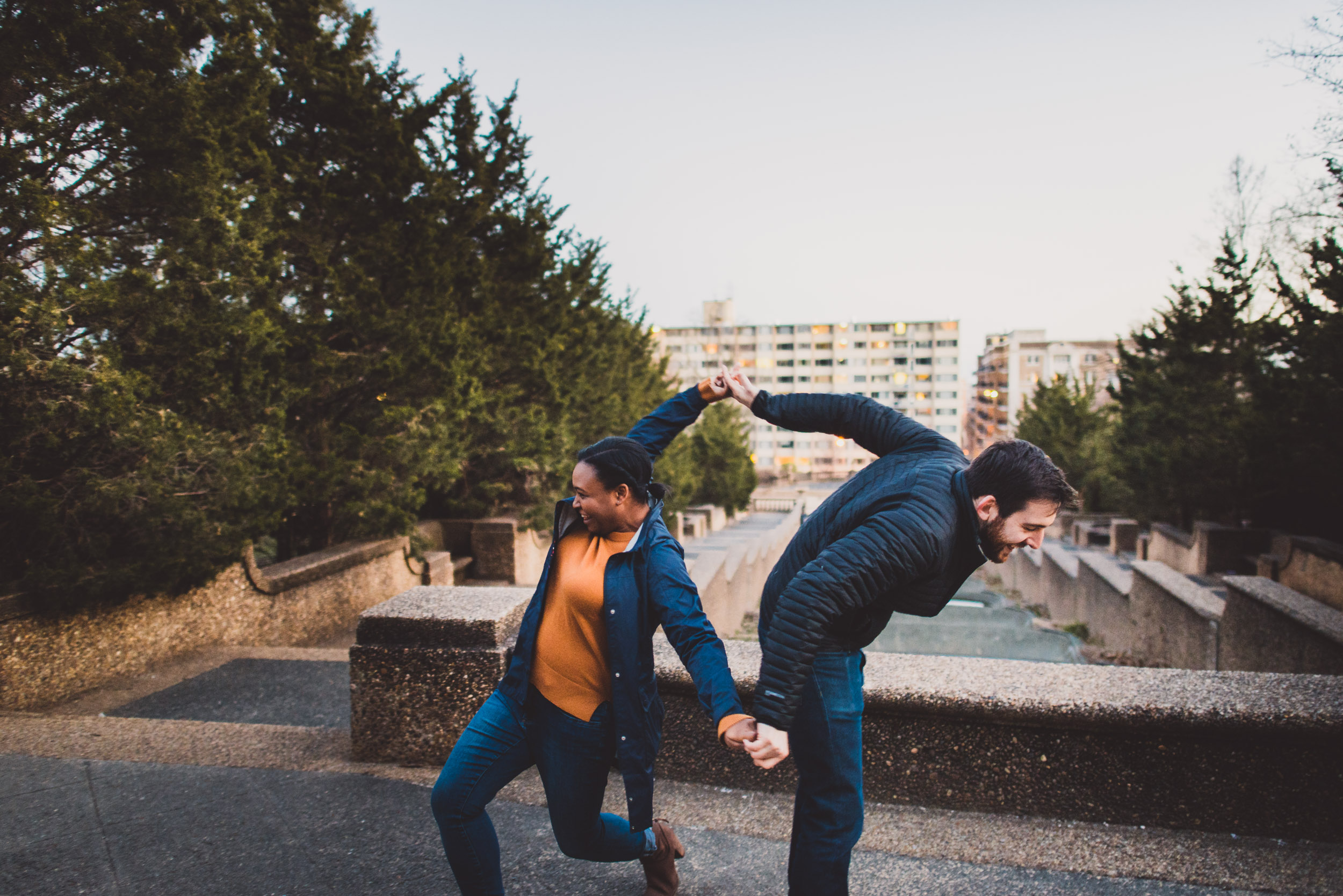 A couple dances in Meridian Hill Park