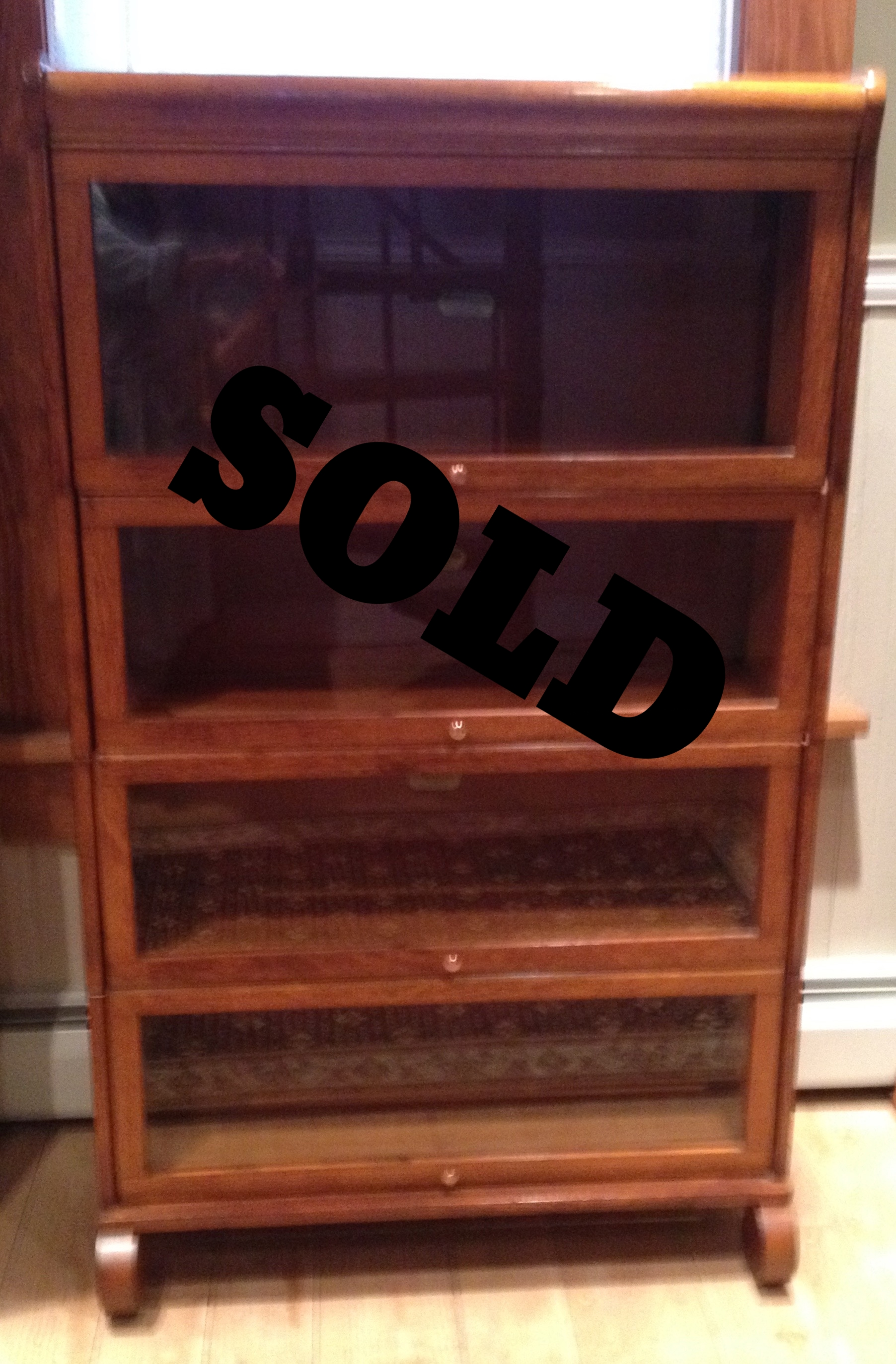 Lundstrom Early 1900's Oak Barrister Bookcase
