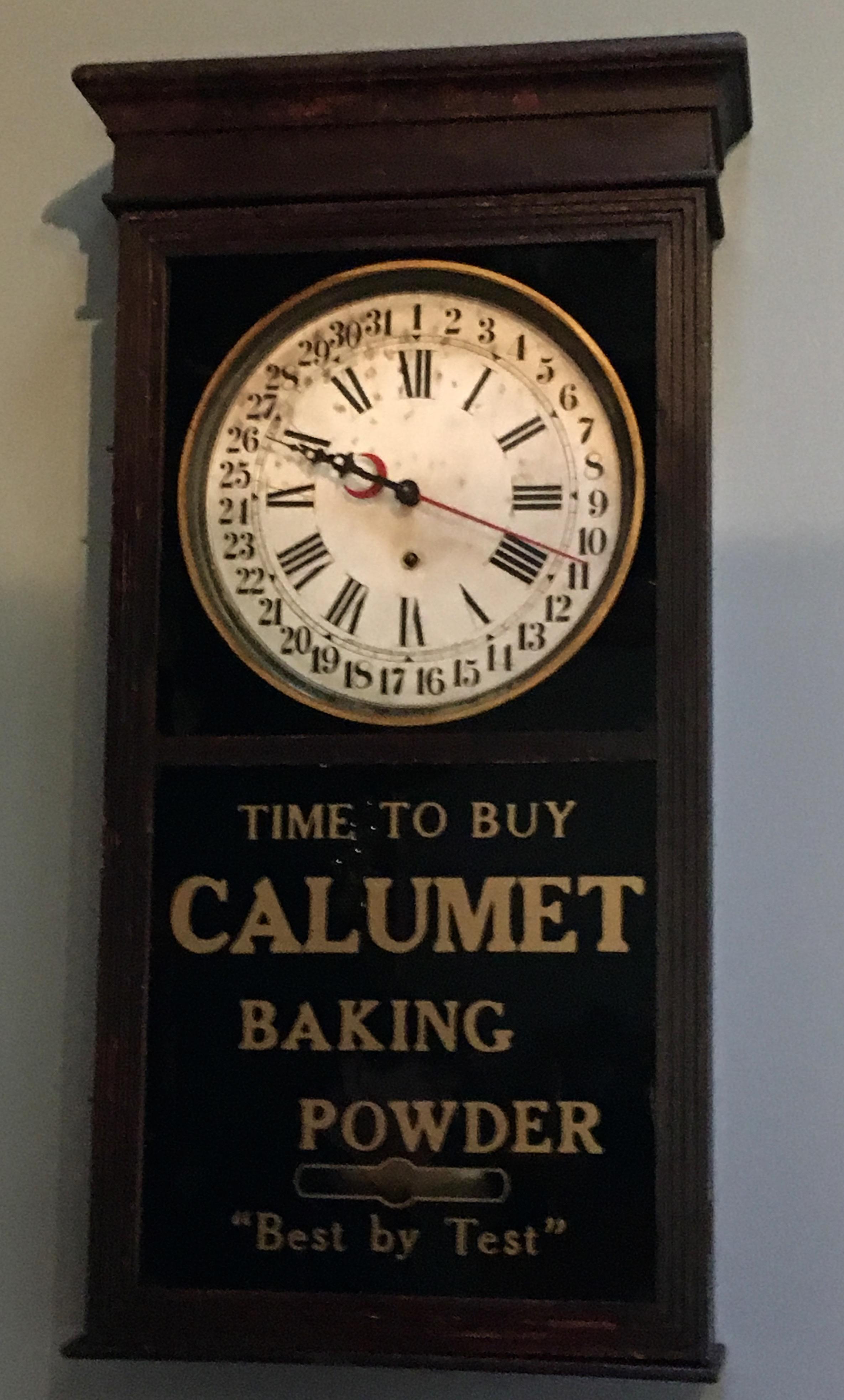 """""""Calumet Baking Powder Clock"""""""