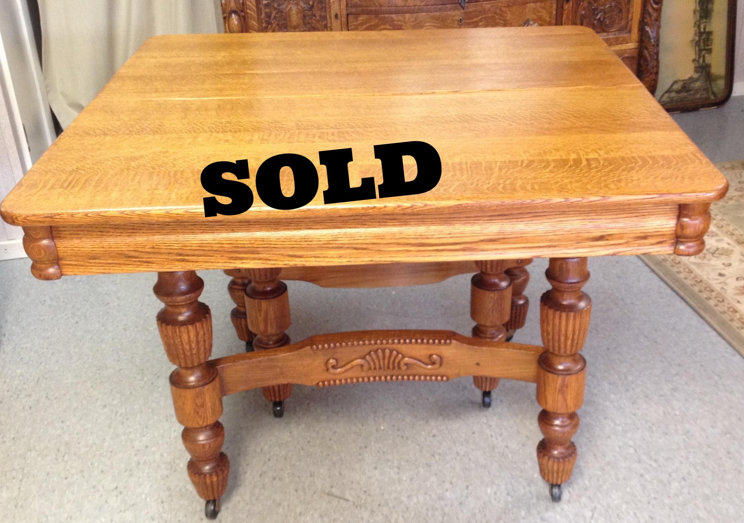 42 in. square oak table