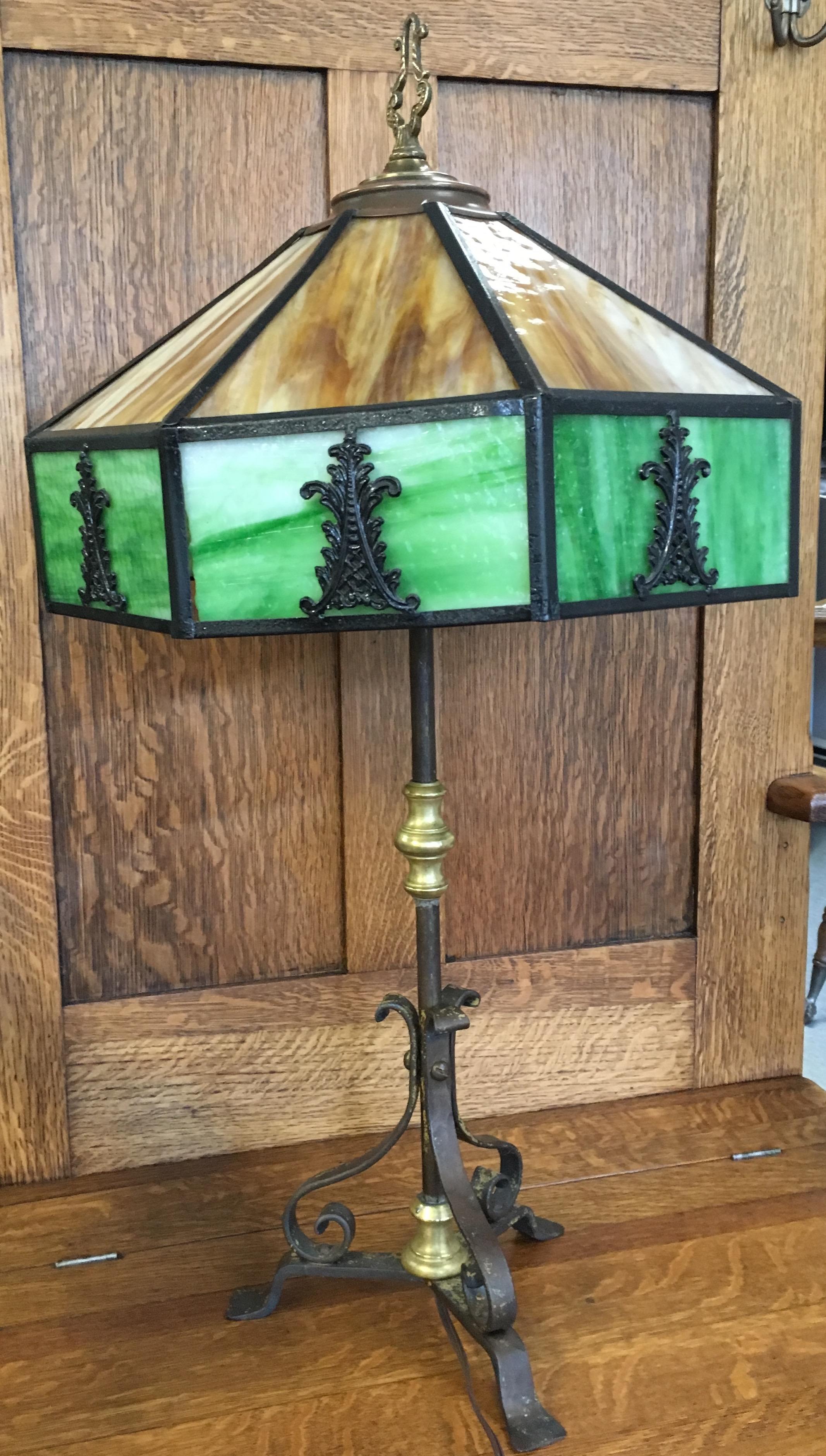 Arts and Crafts Slag Lamp