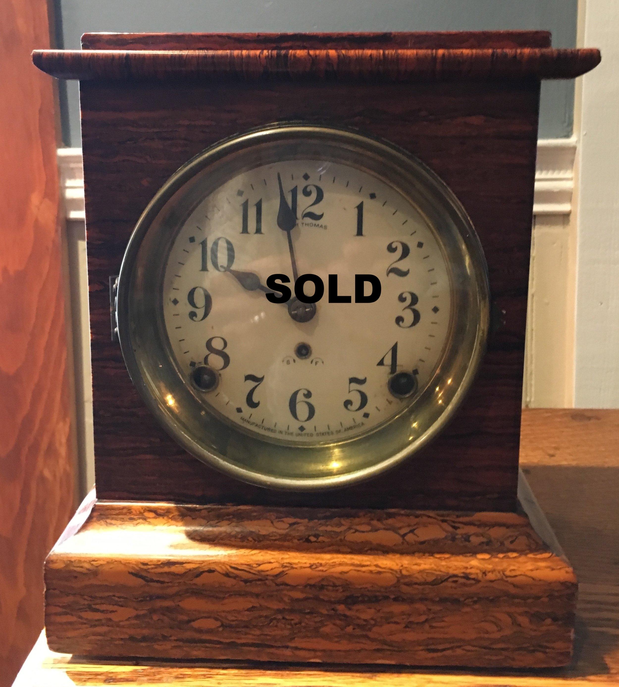 Seth Thomas shelf clock circa 1880's. chimes on the hour and the half hour.