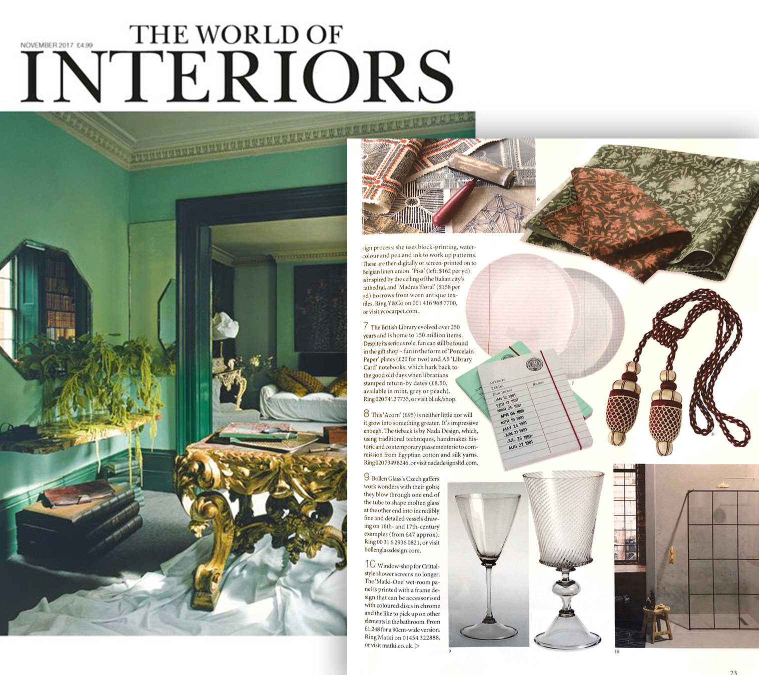 WORLD OF INTERIORS NOVEMBER 2017
