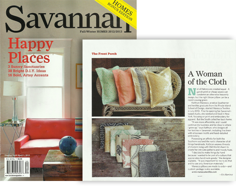 SAVANNAH MAGAZINE HOME EDITION FALL 2012