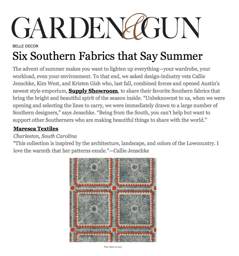 GARDEN & GUN ONLINE MAY 2016