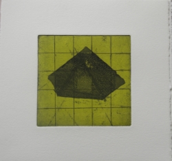 Airfield from the Ghostlines series. Etching on Somerset paper, 20 x 20 cms