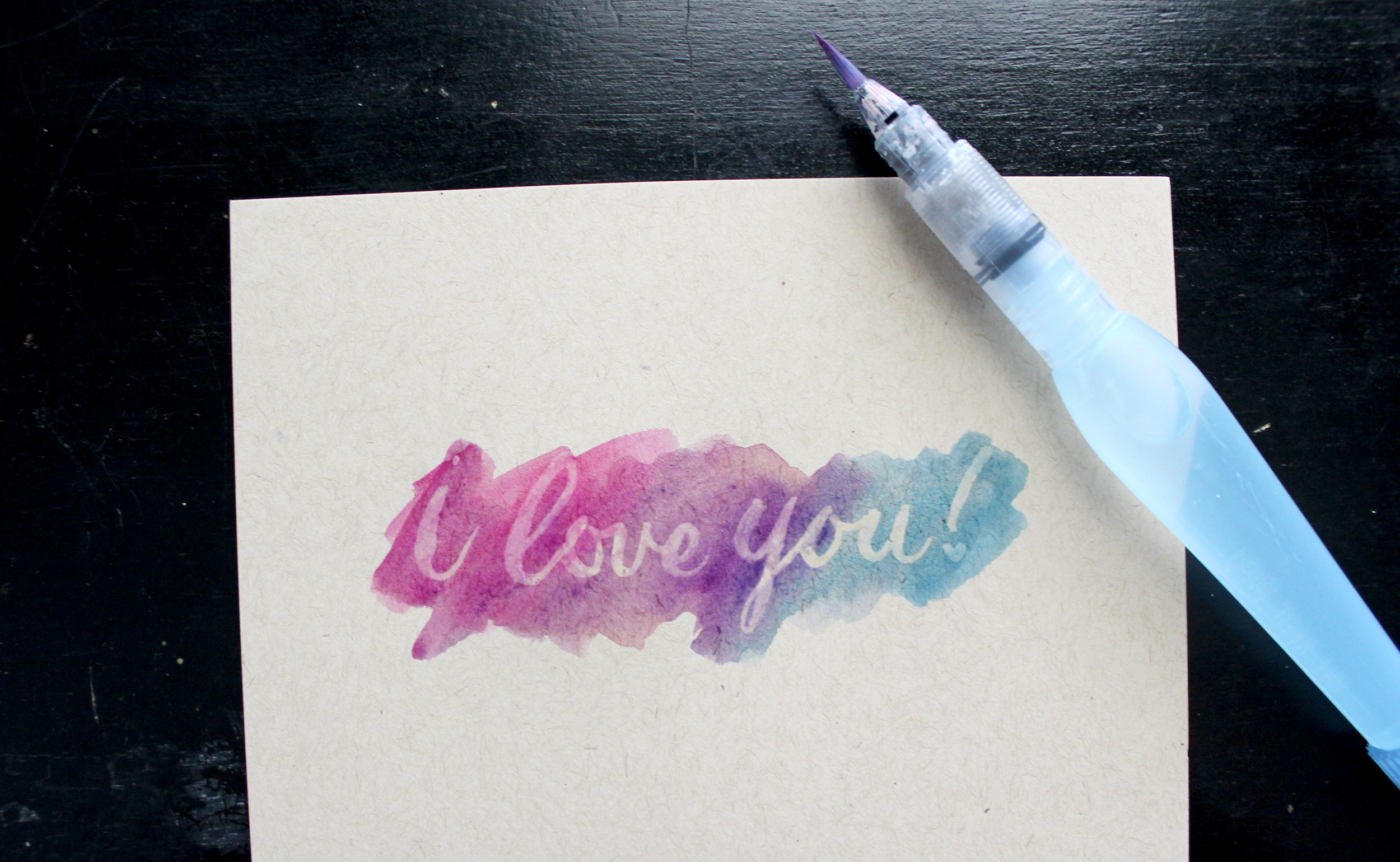 How To: Lettering with Masking Fluid on Ash Bush Blog