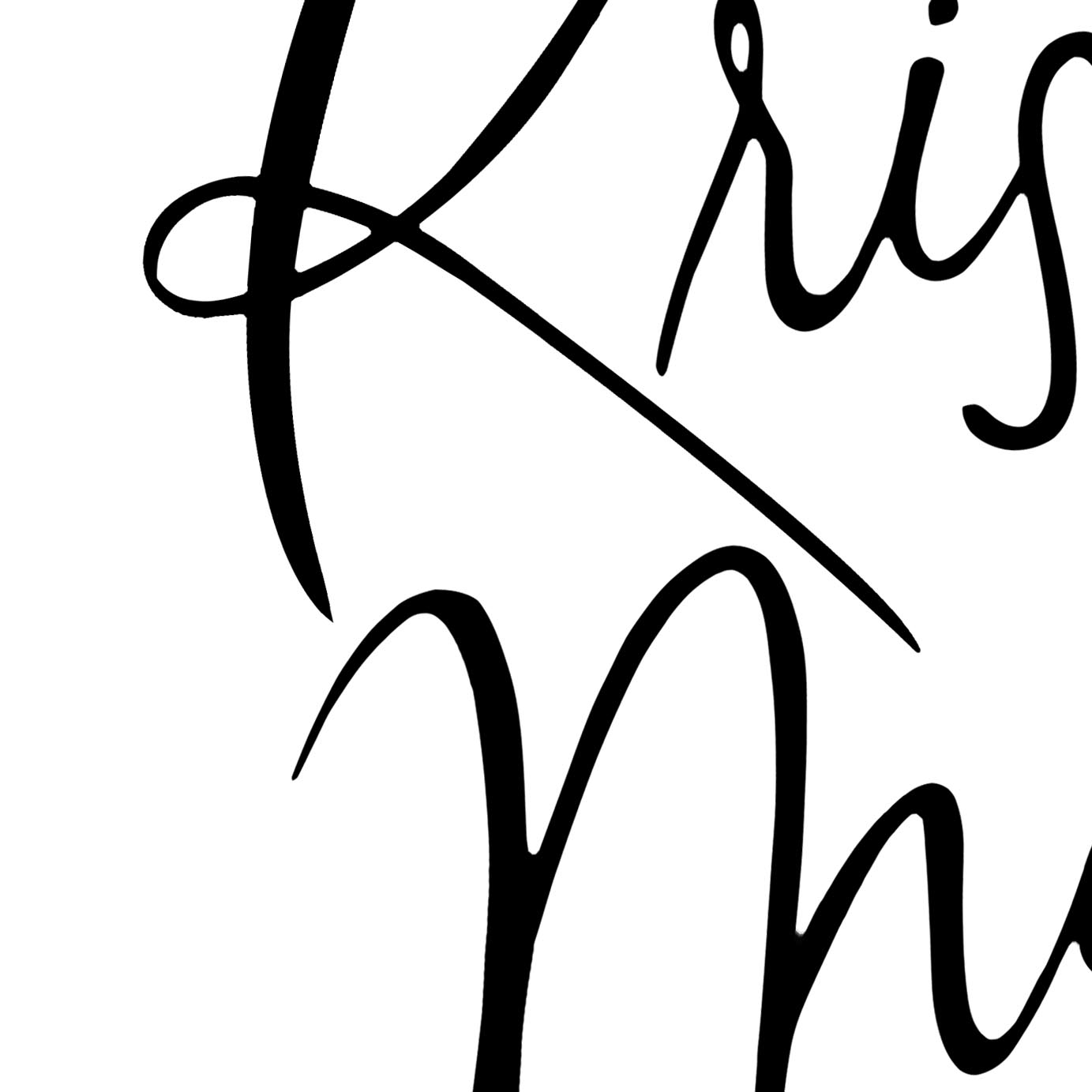 Hand-lettered logo design by Ashley Bush