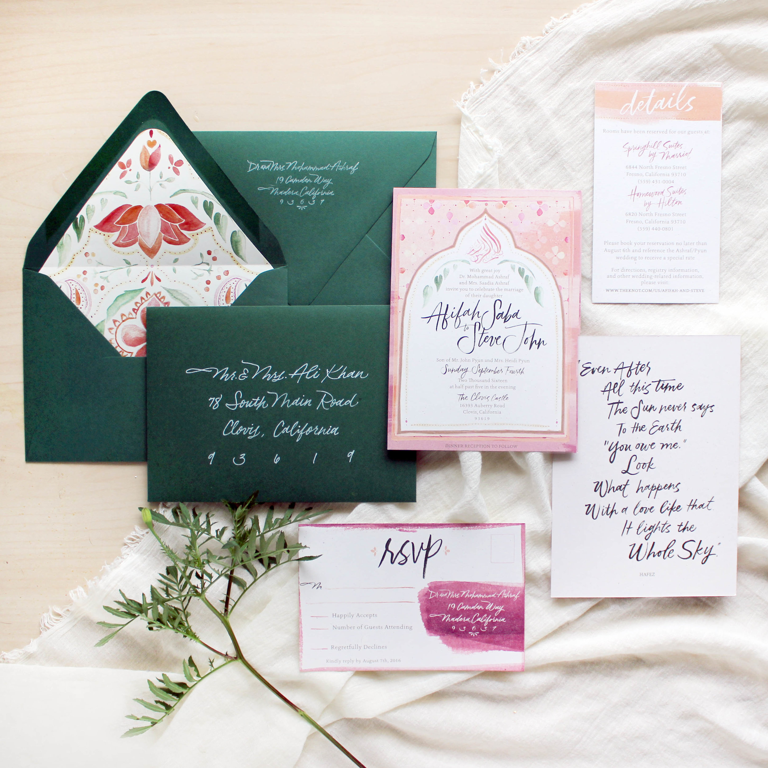 4 Tips on Choosing your Wedding Stationery: Establish your style. www.ashbush.com