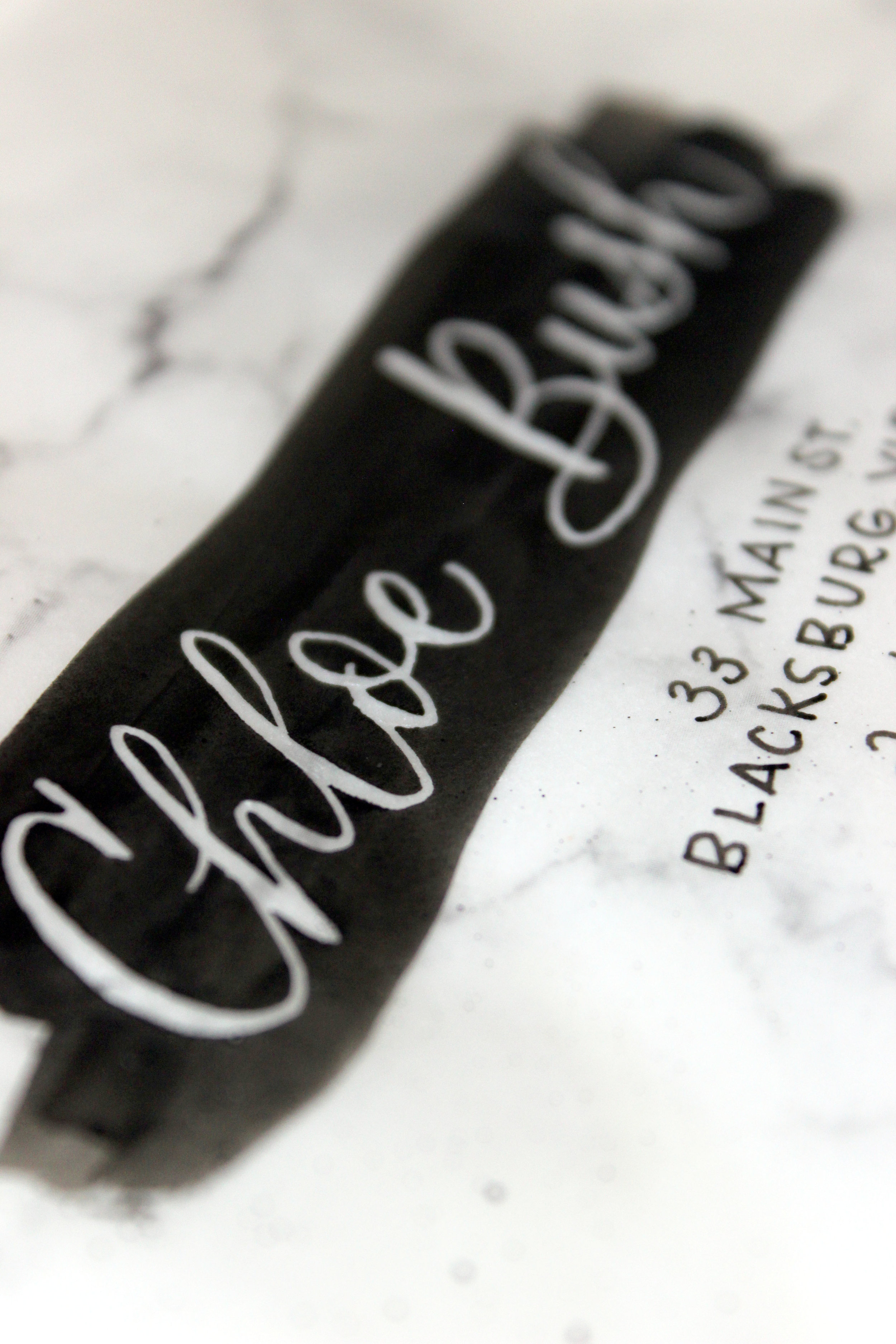 Masking Fluid Envelope Calligraphy How-To on Ash Bush Blog