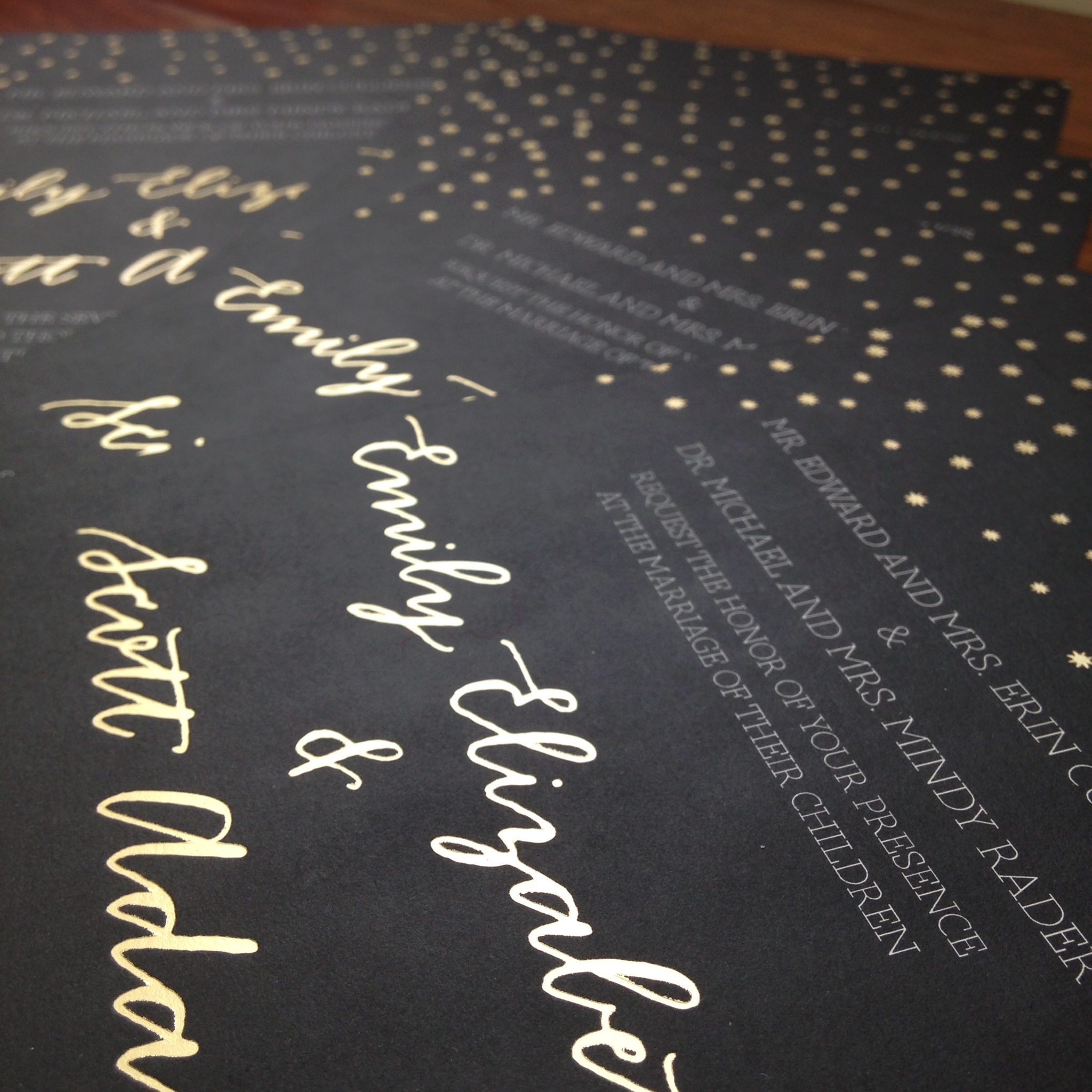 Yennygrams Foil Stamped Invites