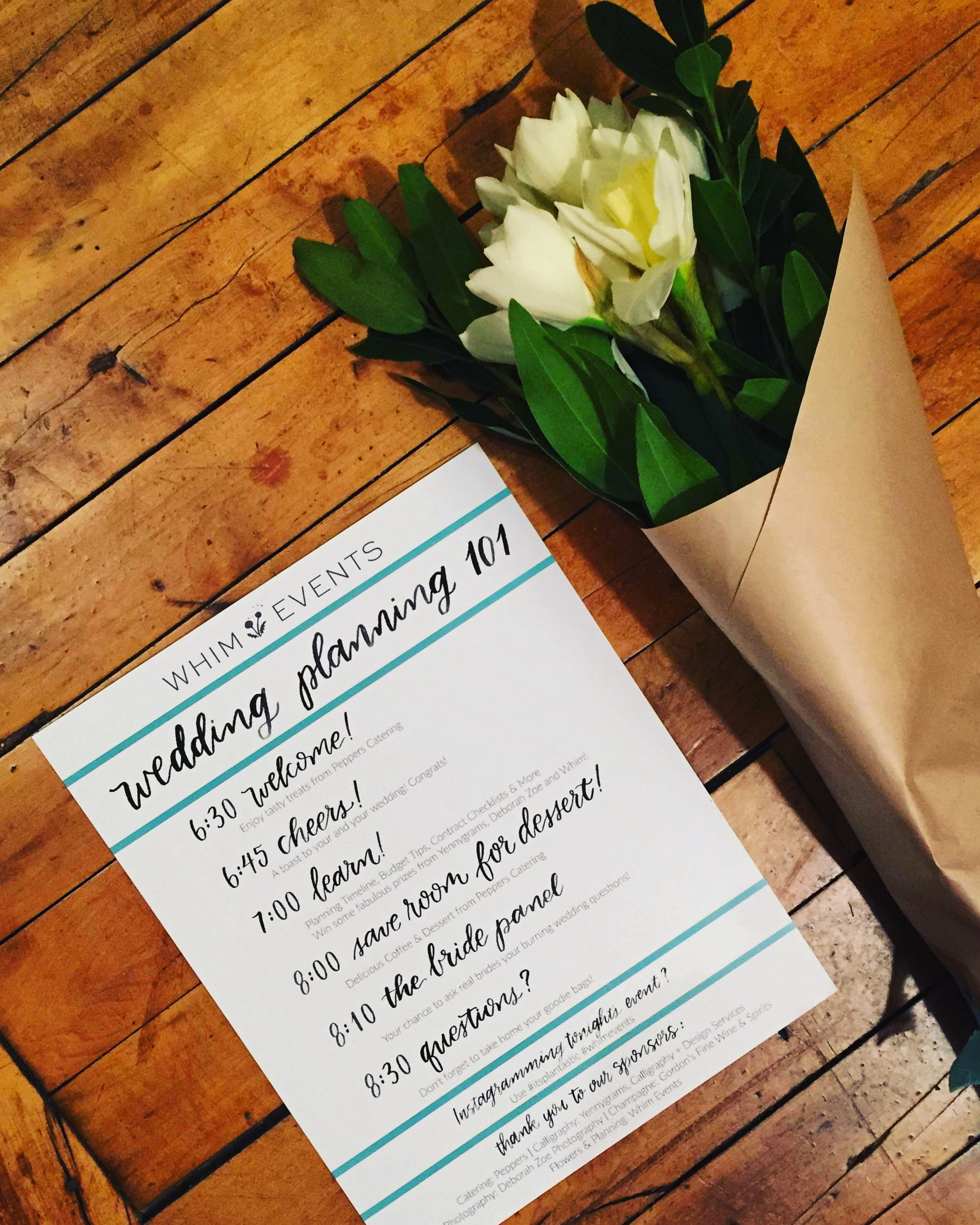 Whim Events 'Wedding Planning 101'  | Somerville, MA