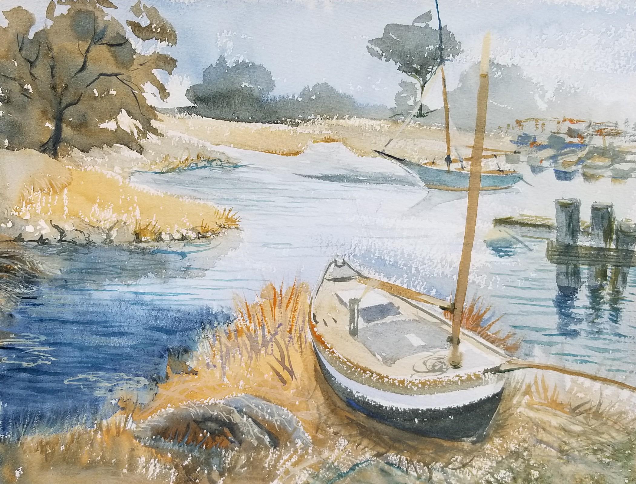 Essex River boatyard-watercolor-NancyBoyle 11x14.jpg