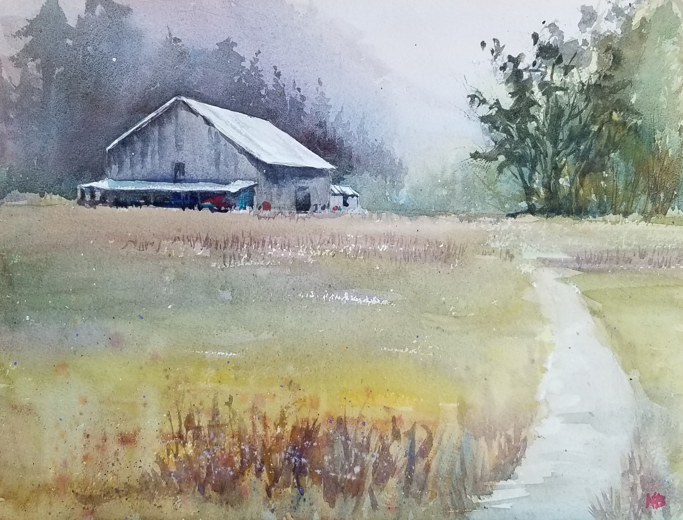 Lonesome barn-12x16 by Nancy Boyle.jpg