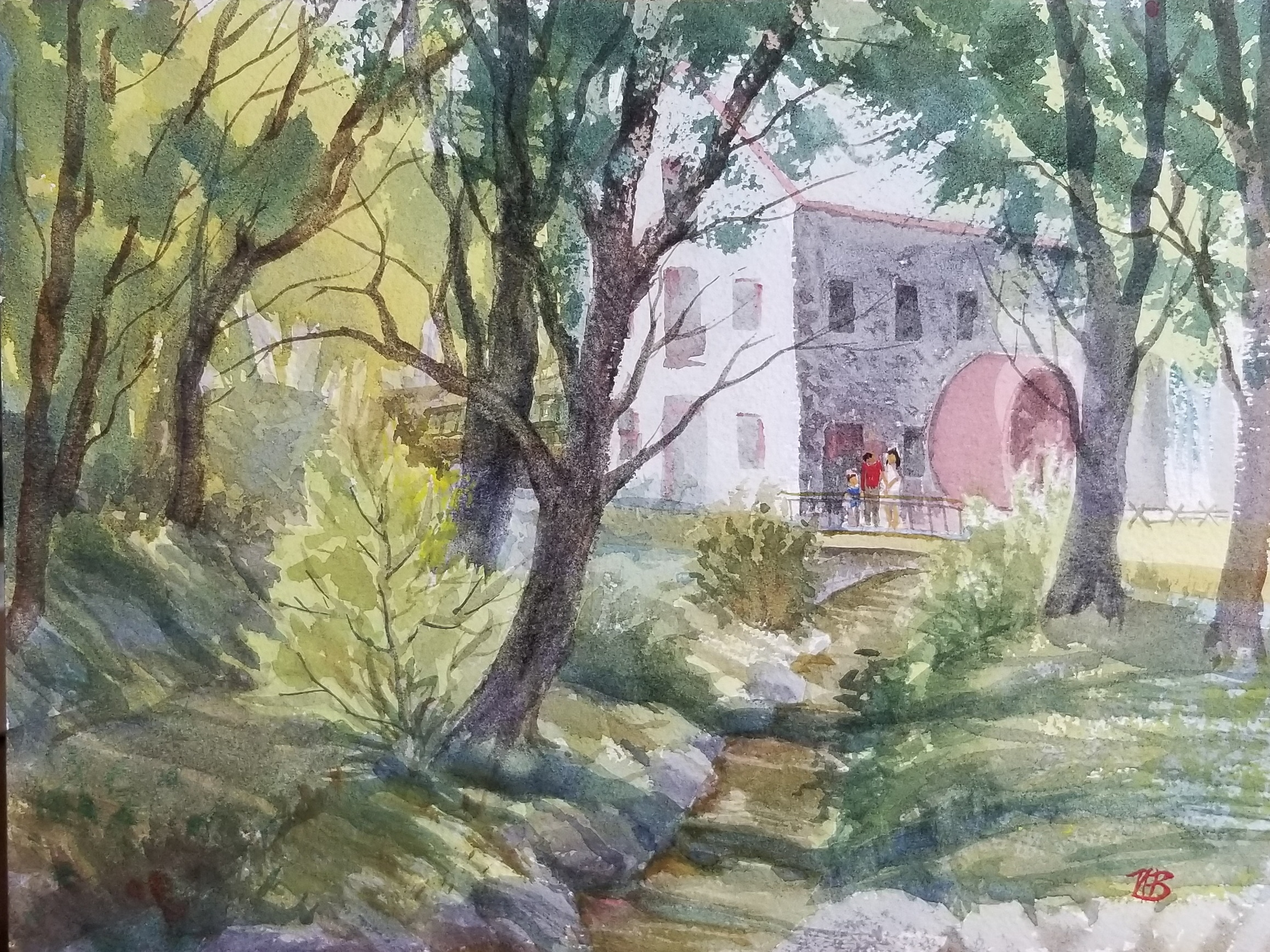The Gristmill at Wayside Inn-9x12 watercolor by Nancy Boyle.jpg