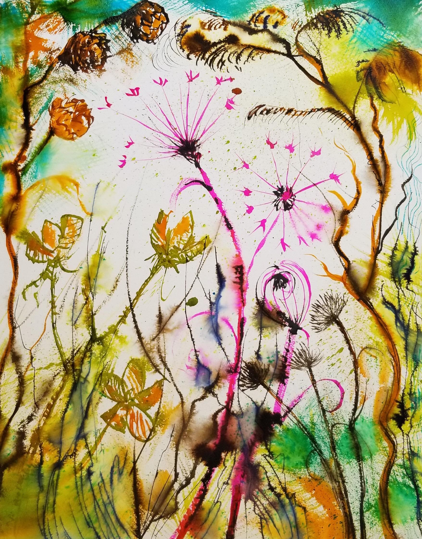 Winter Plants #5 ink on Arches board 16x20 by Nancy Boyle.jpg