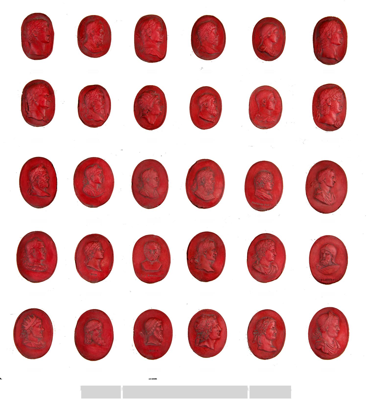 Tiberian Design's Rare Imperial Red Intaglios depicting portraits of Roman Emperors.