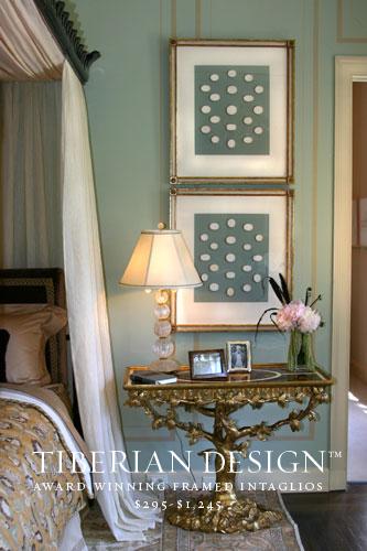Framed Intaglios Project No. 1  Tiberian's Grecian Inspired Intaglios for DAVID LIVINGSTON DESIGN (San Francisco Decorator Showcase House)