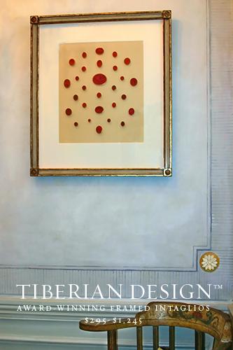 Framed Intaglios Project No. 6  Rare 18th Century James Tassie Intaglios framed by Tiberian for ANGELA FREE DESIGN